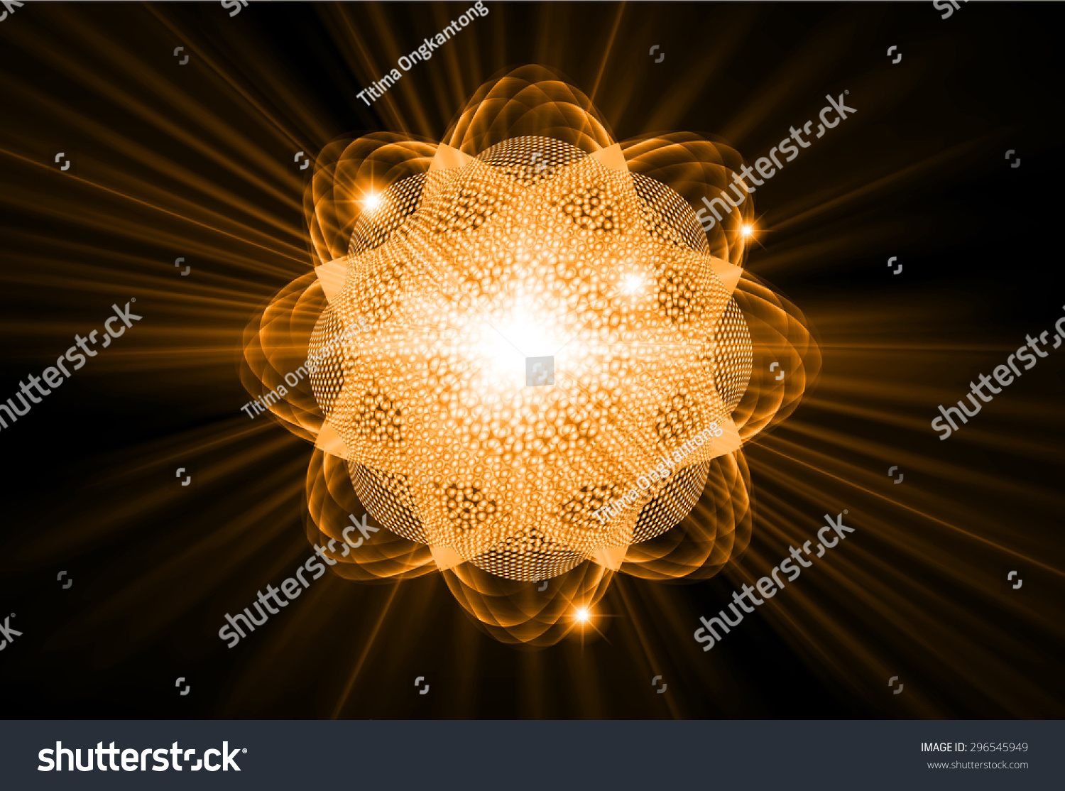 Dark Orange Color Light Abstract Technology Stock Vector
