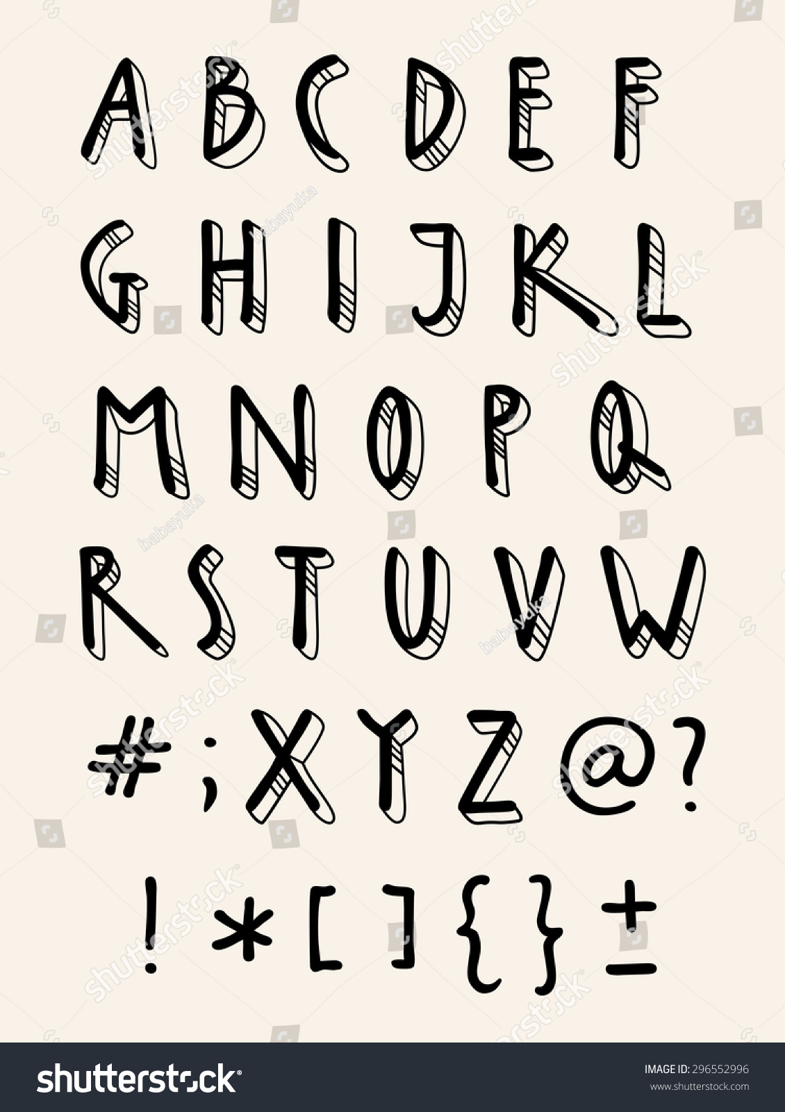 Worksheets A To Z Stylish Font Style vector handwriting doodle alphabet artistic hand stock drawn stylish font design template elements letters