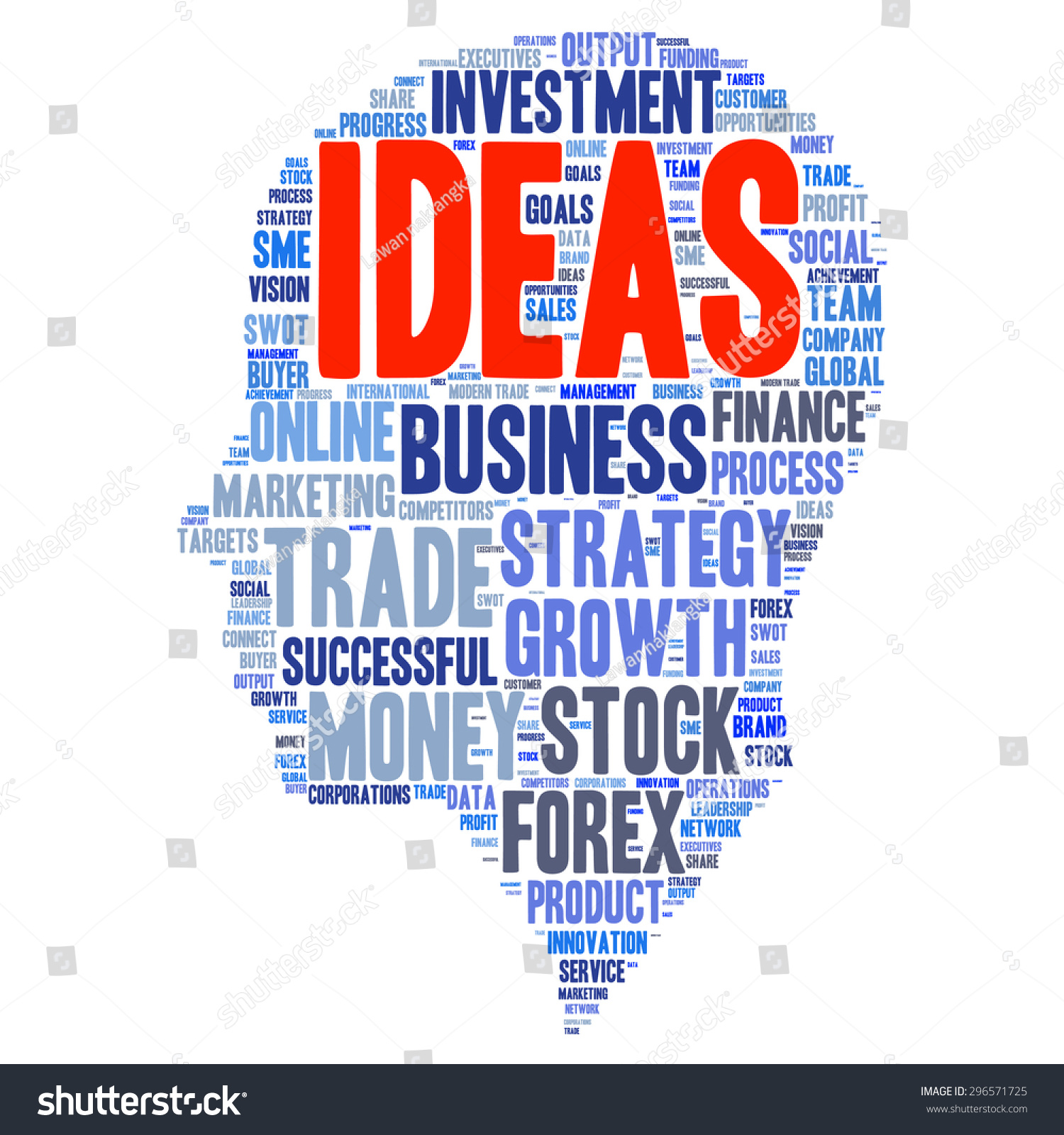 Business Finance: Business & Finance Related Word Cloud Background Stock