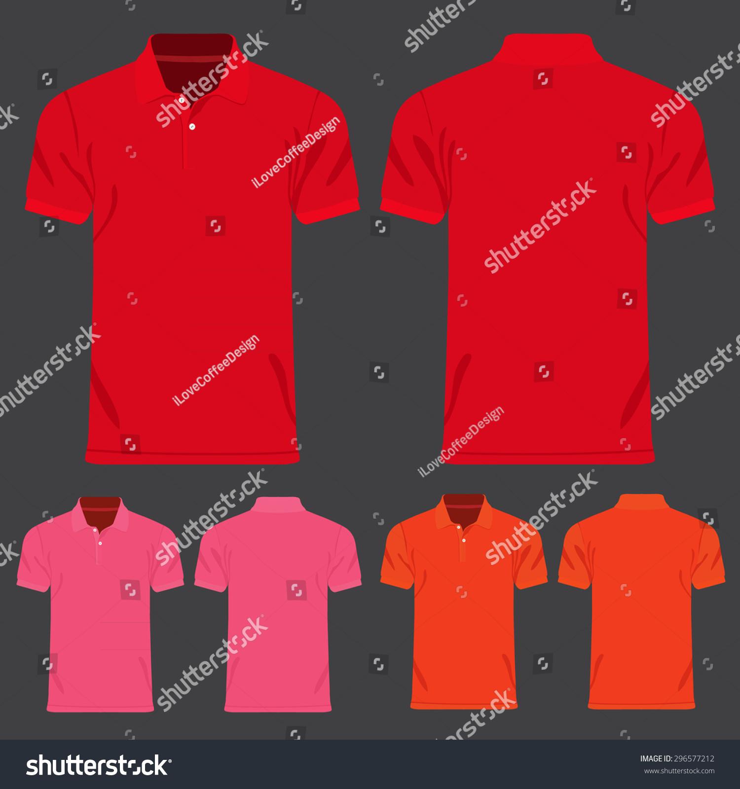 Shirt design red - Color Men T Shirts Design Template Vector Illustration