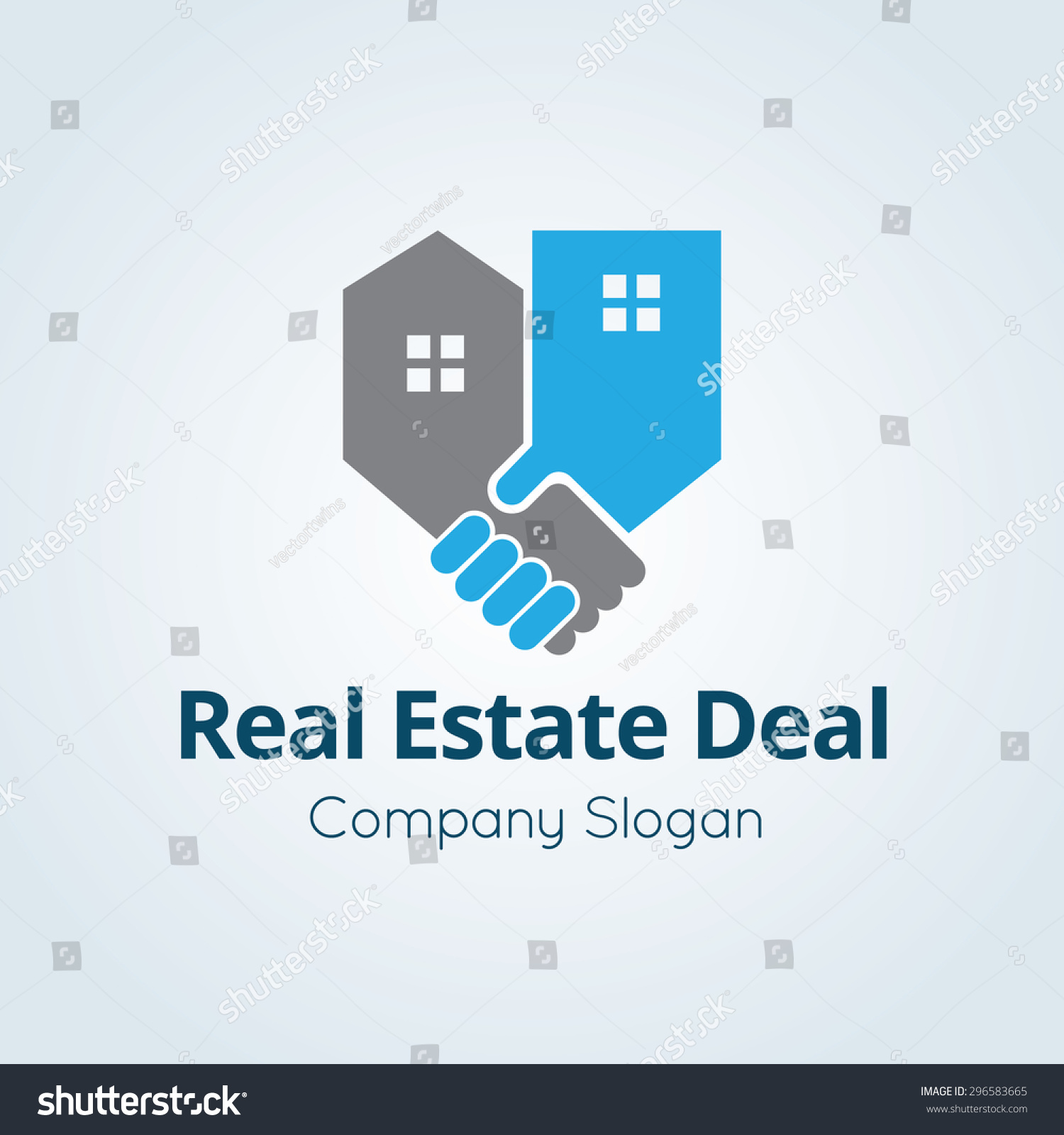 Real Estate Vector Logo Symbol - 296583665 : Shutterstock
