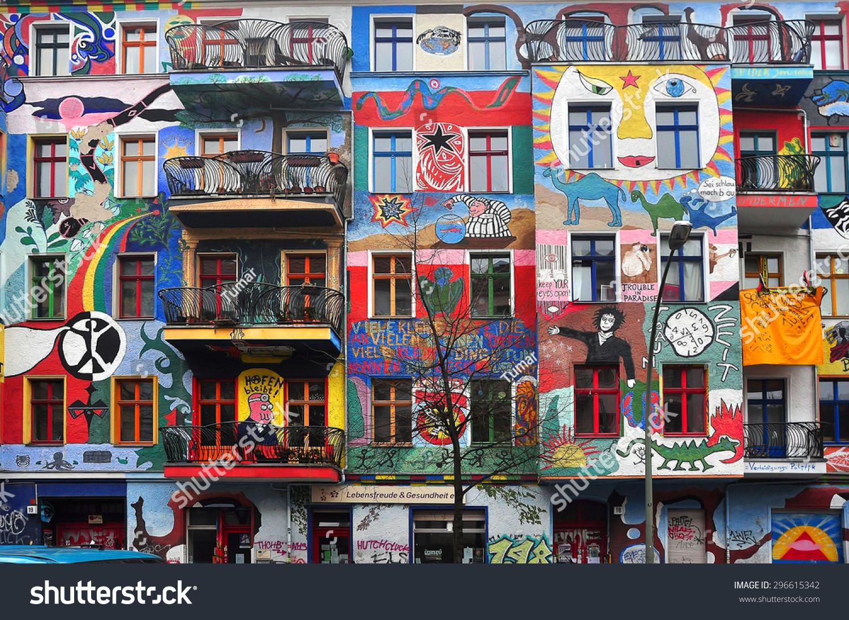 Berlin march 6 graffiti house in easten berlin berlin is the most popular