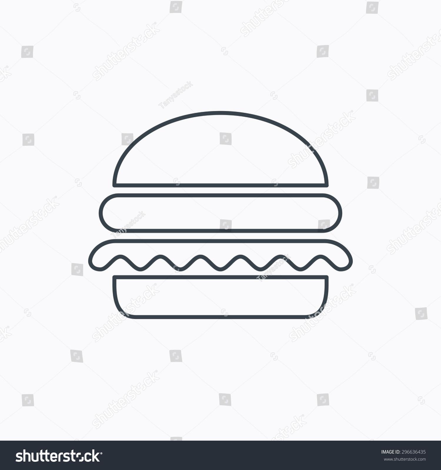 Vegetarian Burger Icon Healthy Fast Food Sign Burger Symbol