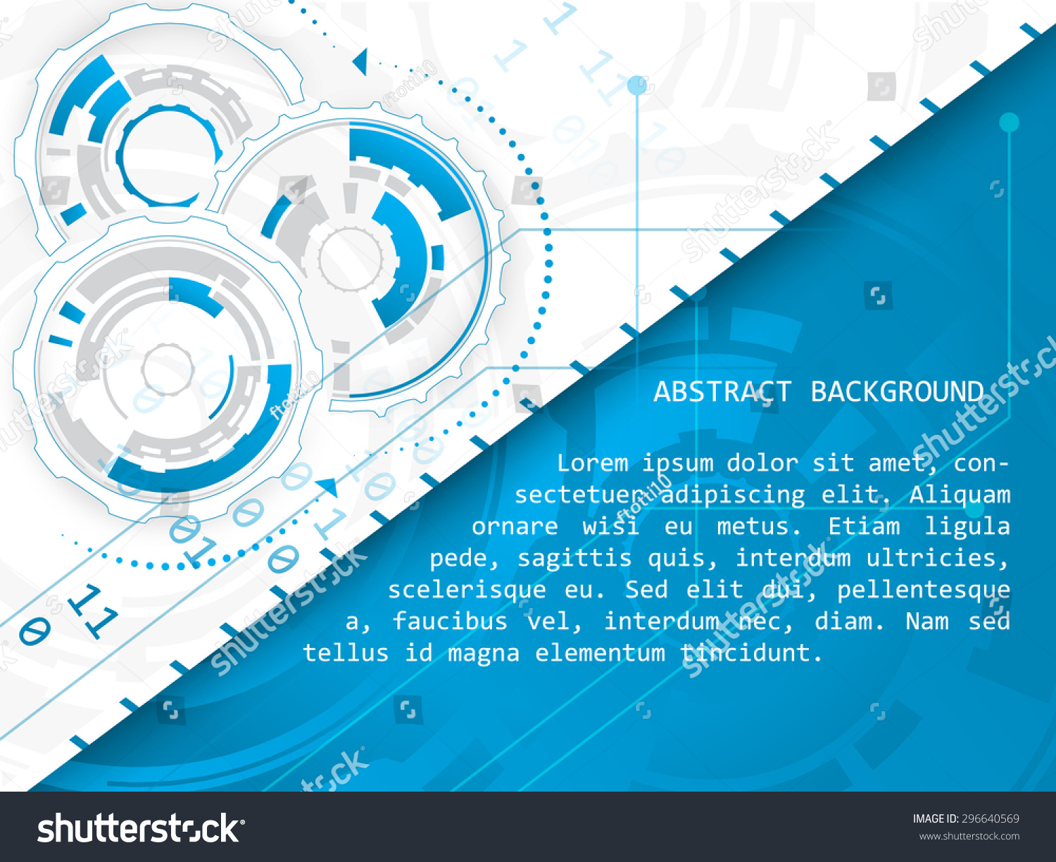 Technology Vector Abstract Illustration Circuit Board Stock Background Design With And Gear Wheels On A White