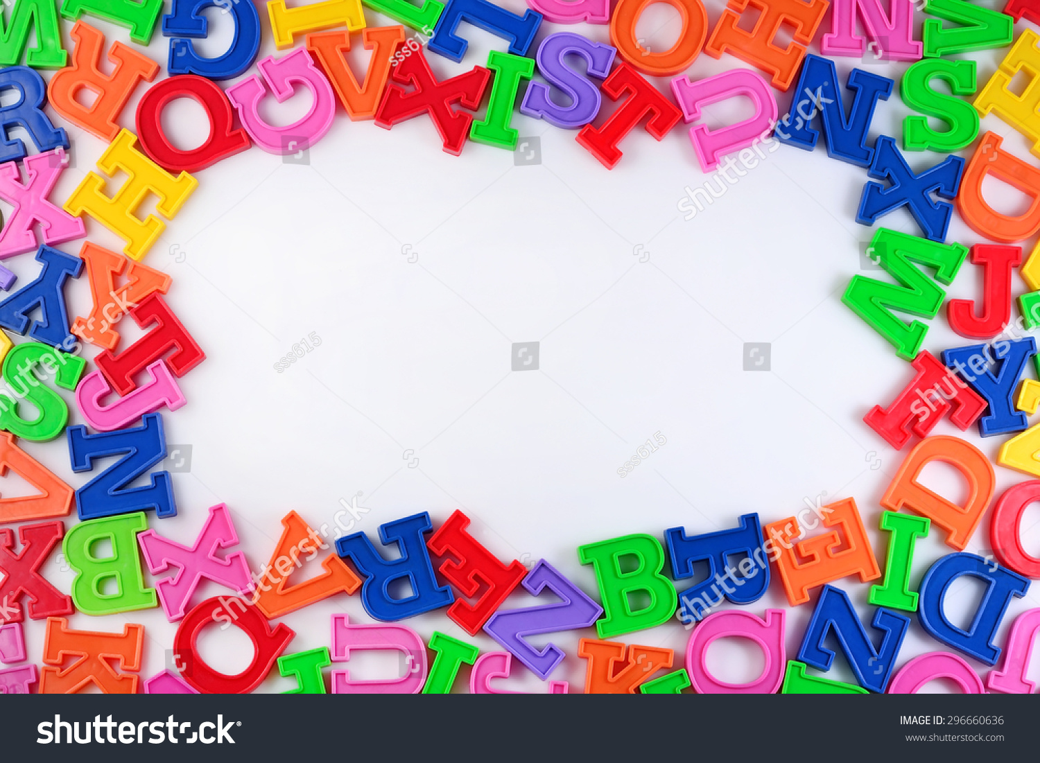 Frame Plastic Colorful Alphabet Letters On Stock Photo (Safe to Use ...