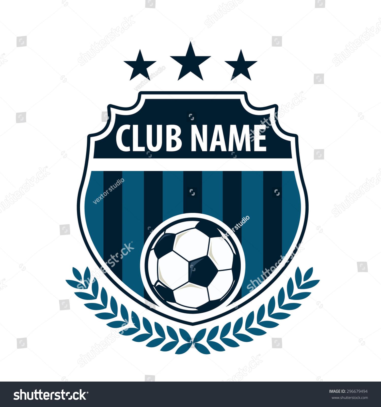 Football Badge Logo Template Designsoccer Teamvector Stock