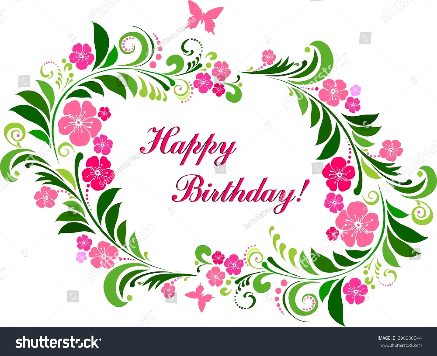 Happy birthday card celebration background flowers stock happy birthday card celebration background with flowers butterfly and place for your text izmirmasajfo