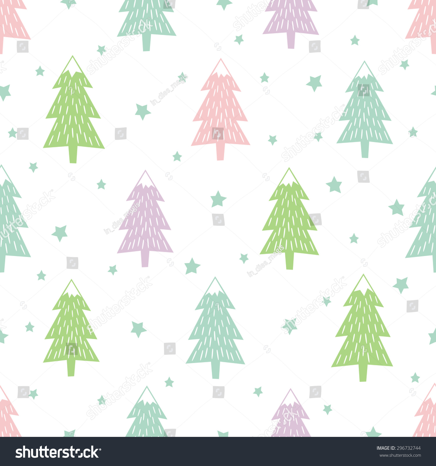 pastel happy new year background simple seamless retro christmas pattern varied xmas trees