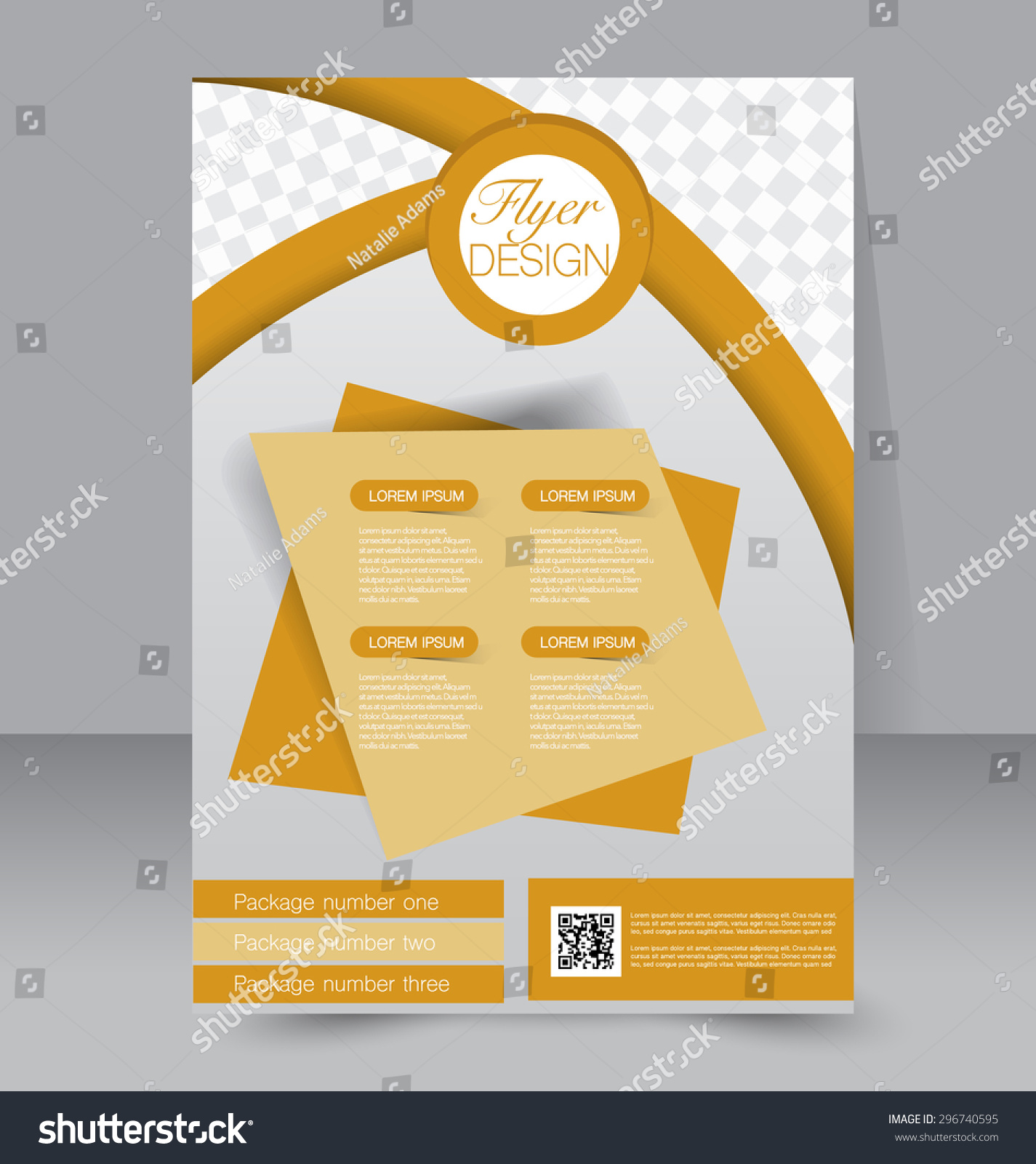 editable brochure templates - flyer template business brochure editable a4 stock vector