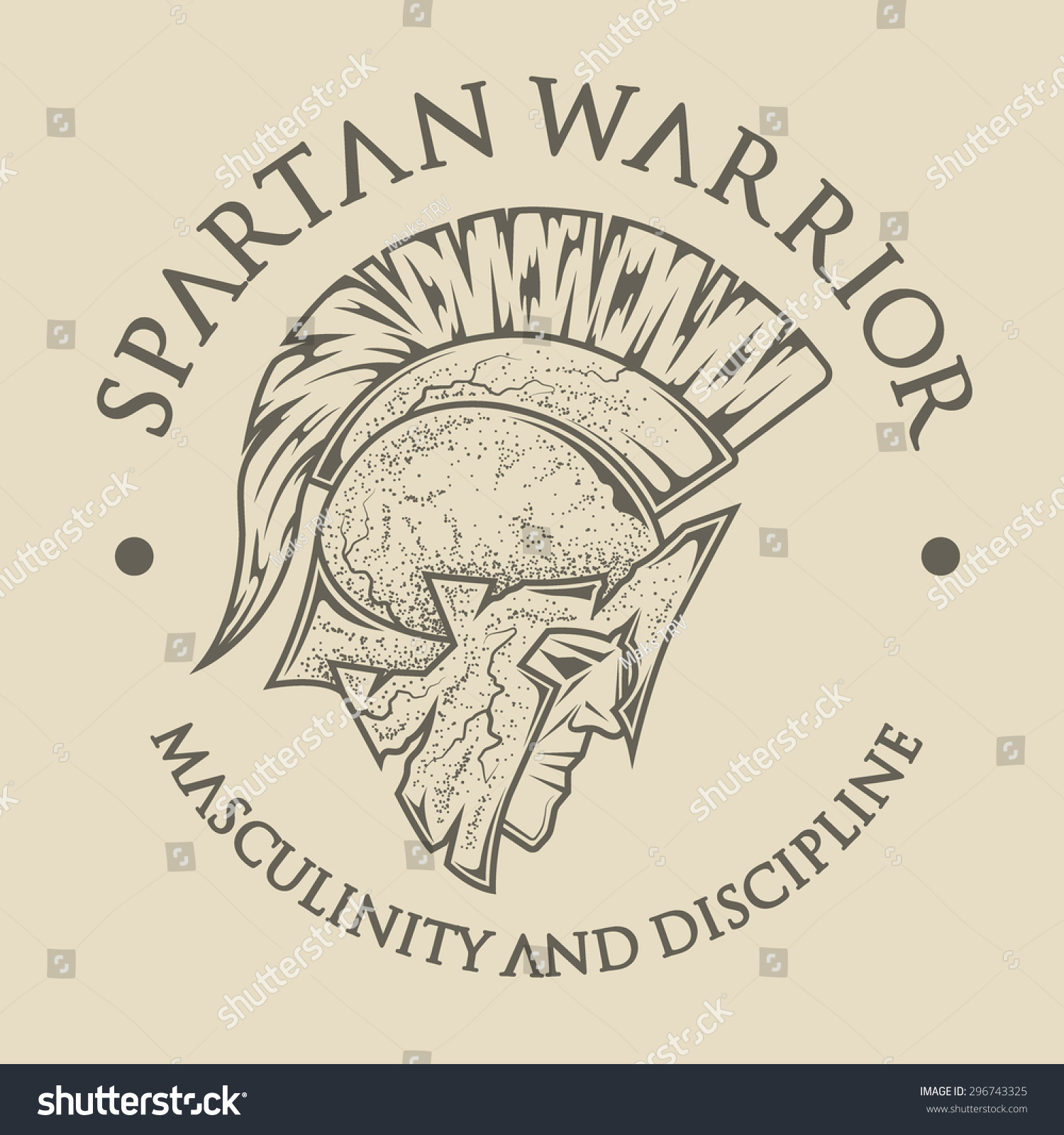 symbol spartan greek warrior a soldier in the