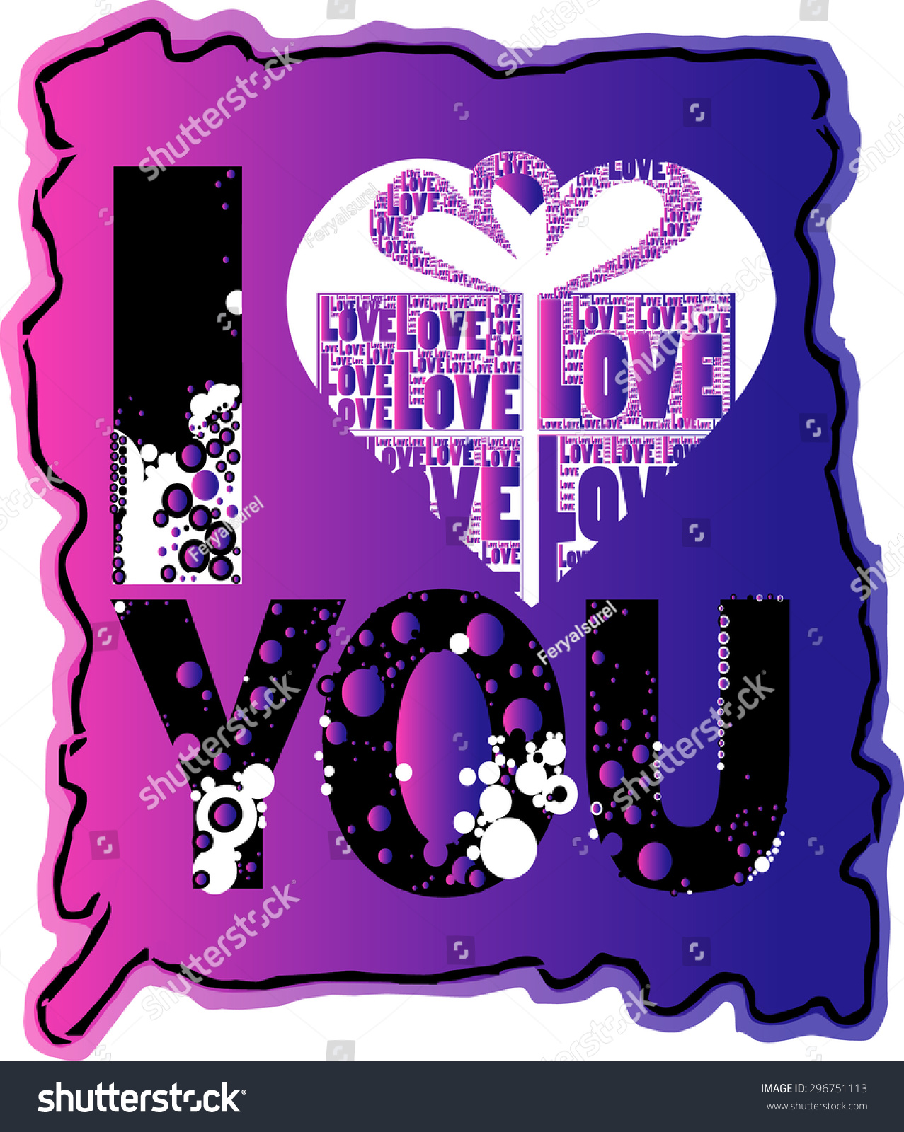 red color love you words love stock vector 296751113 shutterstock