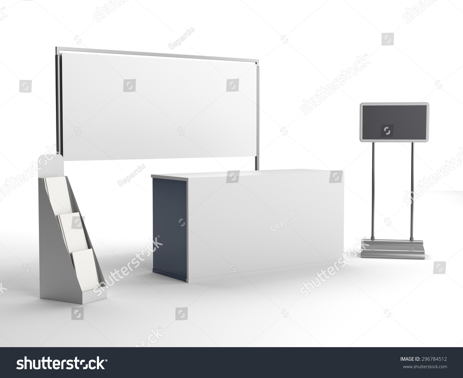 Exhibition Stall Vector : Isolated stall exhibition tv display stock illustration