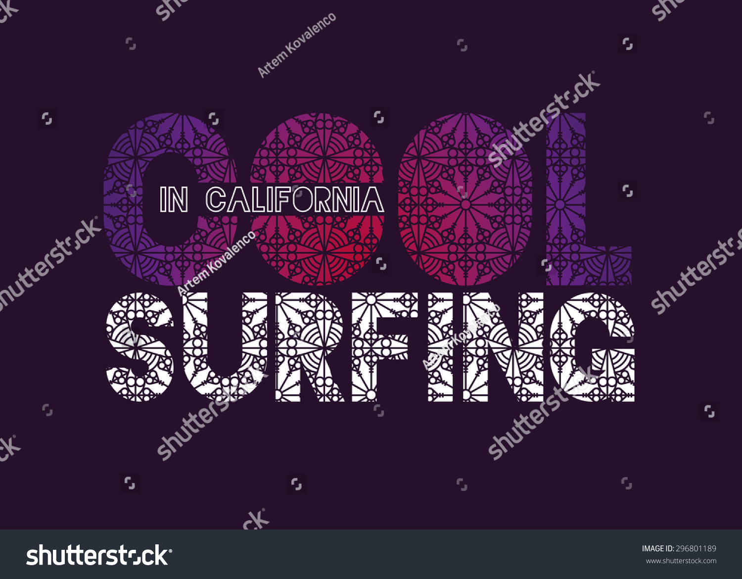 vector illustration of a cool surfing in California California surfing design for graphics for t-shirt vintage design imposed geometric dynamic pattern background