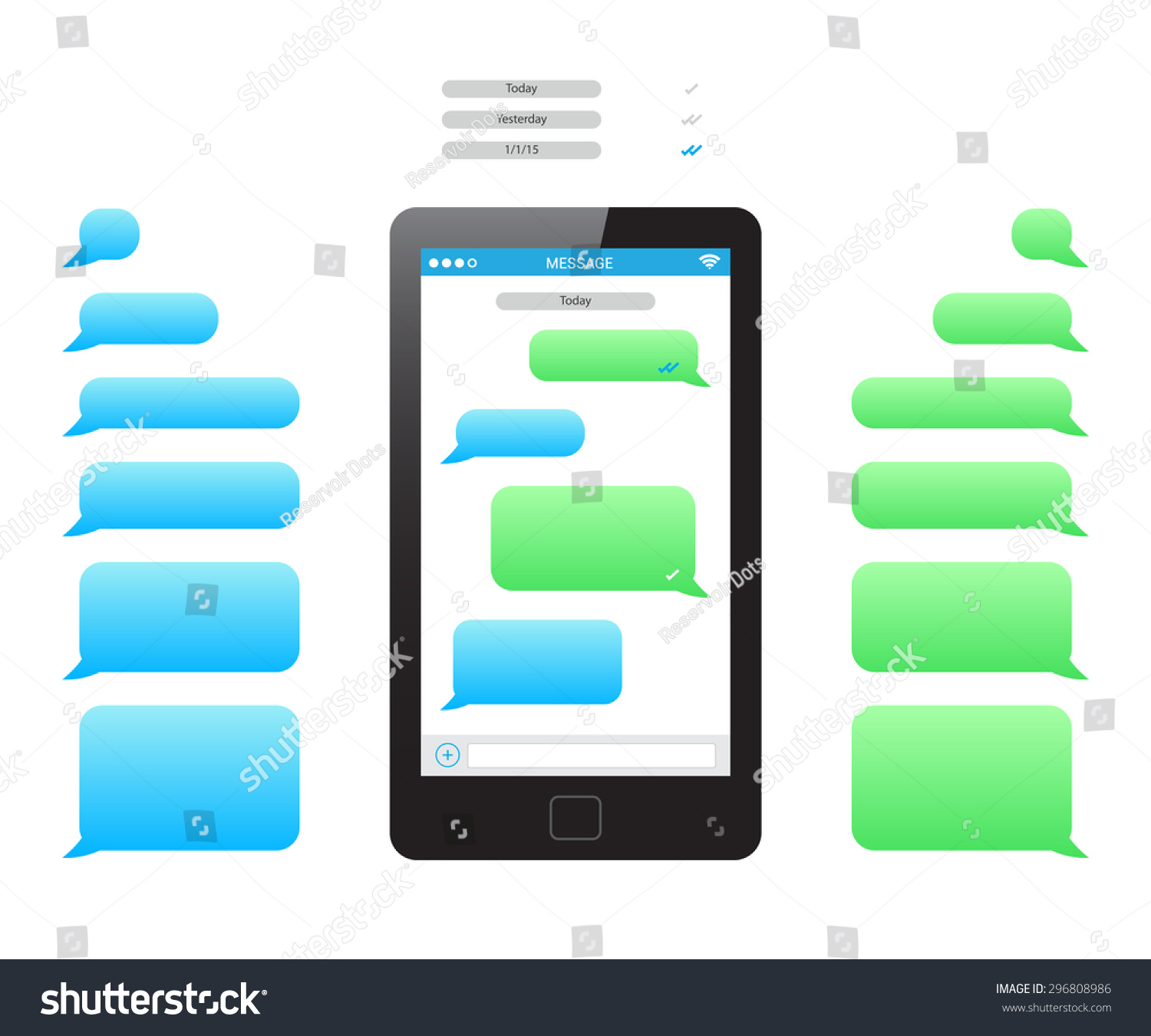 Phone Message Template Stock Photo (Photo, Vector, Illustration ...