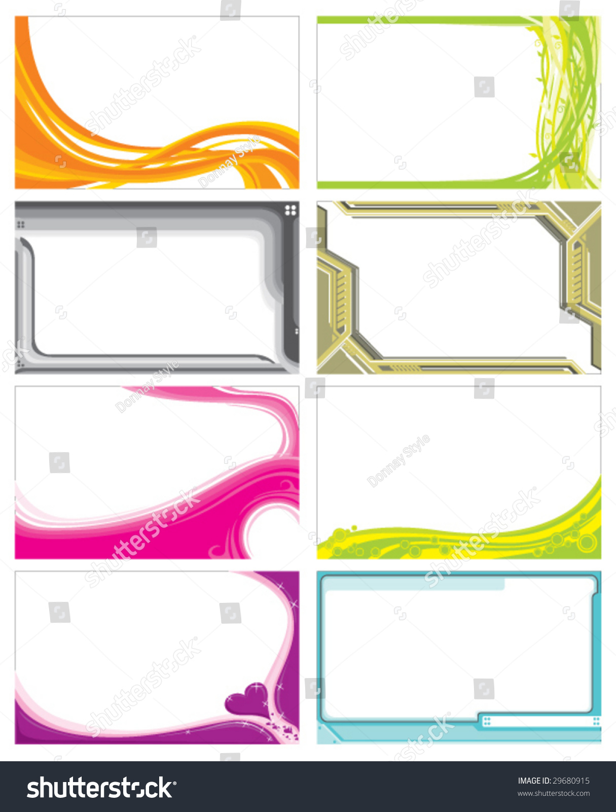 name card template stock vector 29680915
