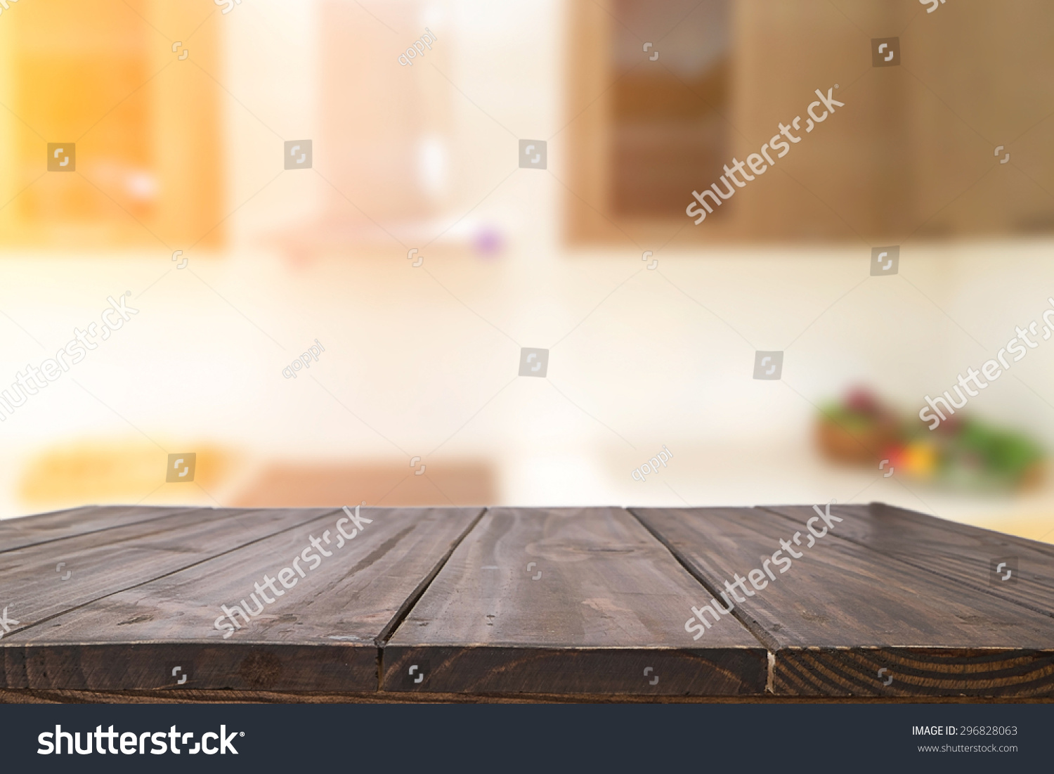 Wooden Desk Background ~ Royalty free wood desk space and kitchen background