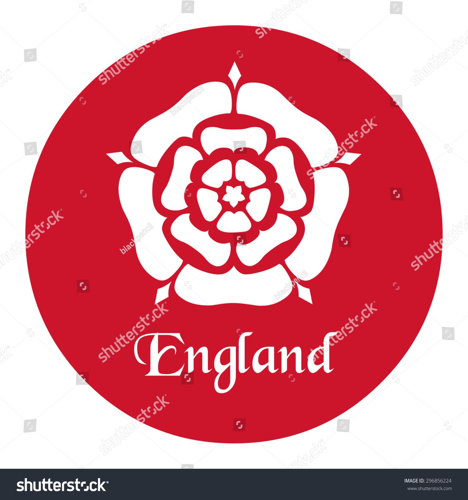 England Emblem Tudor Rose Stock Vector 296856224 - Shutterstock