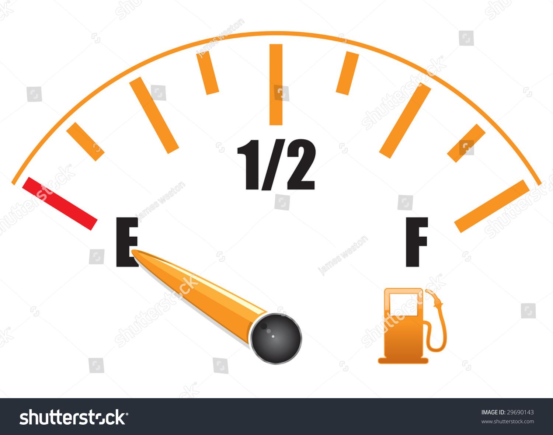 Fuel Gauge Symbol A Fuel Gauge With Symb...