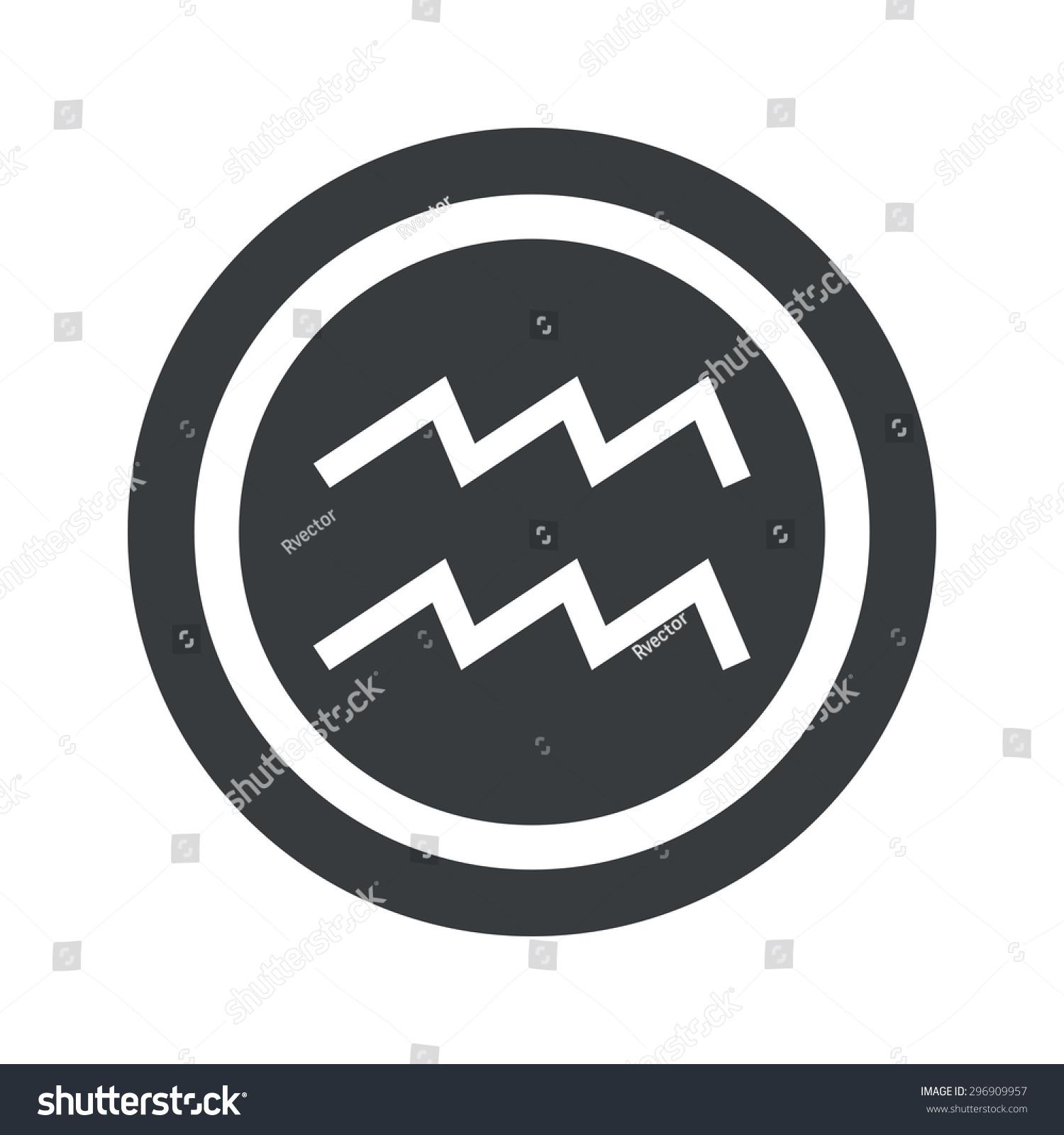 Image aquarius zodiac symbol circle on stock vector 296909957 image of aquarius zodiac symbol in circle on black circle isolated on white buycottarizona