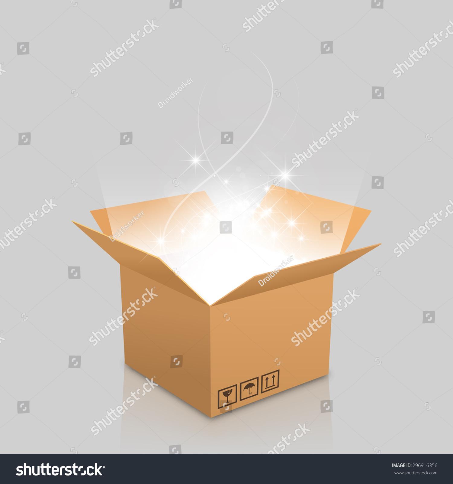 open box outgoing light stock vector 296916356 shutterstock. Black Bedroom Furniture Sets. Home Design Ideas