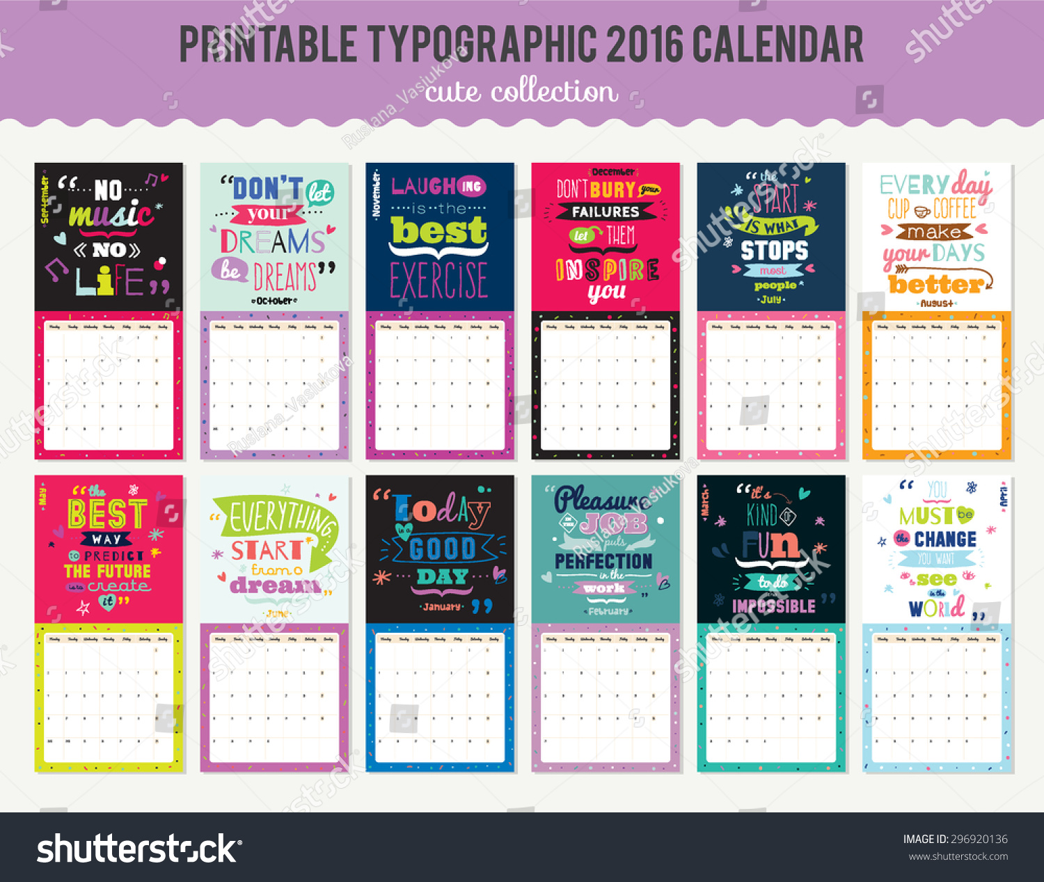 Calendar Wallpaper With Notes : Cute calendar template for beautiful diary with