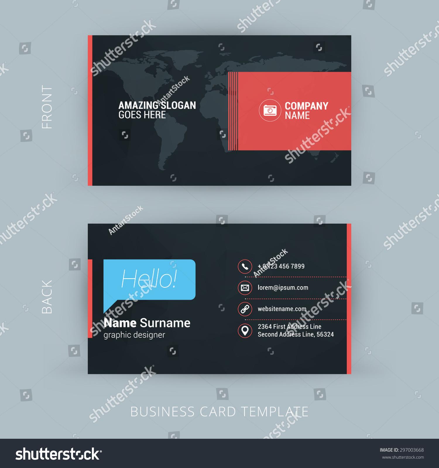 Vector Modern Creative Clean Business Card Stock Vector (2018 ...