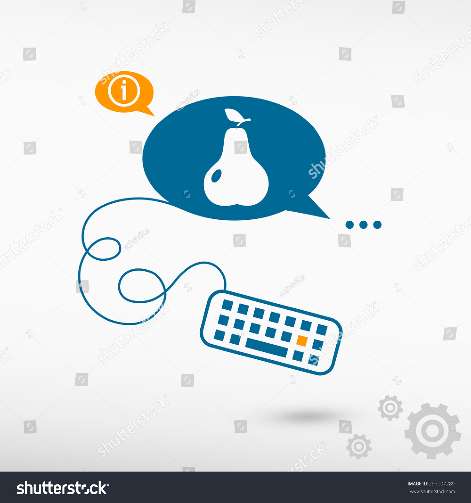 Pear Leaf Sign Icon Keyboard On Stock Vector 297007289 Shutterstock