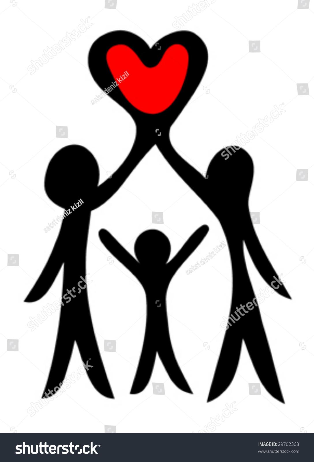 Happy Family Symbol Vector Stock Vector Royalty Free 29702368