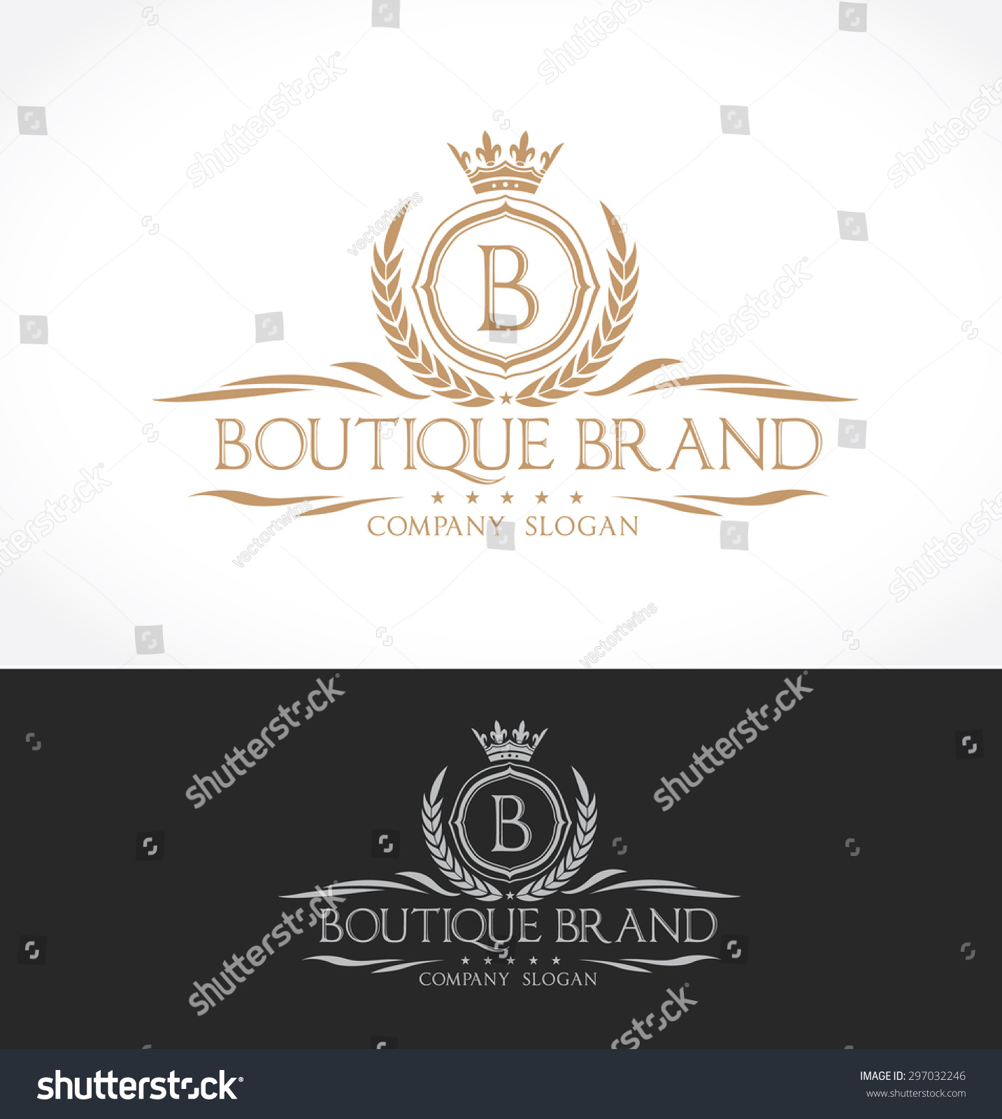 Luxury vintage crests logo collection business sign for Boutique hotel logo