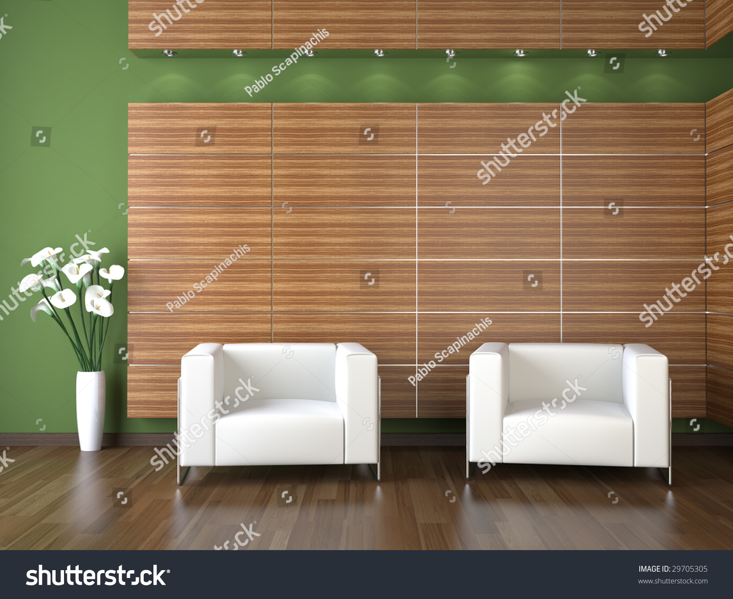 Interior Design Modern Waiting Room Wood Stock Illustration 29705305 Shutterstock