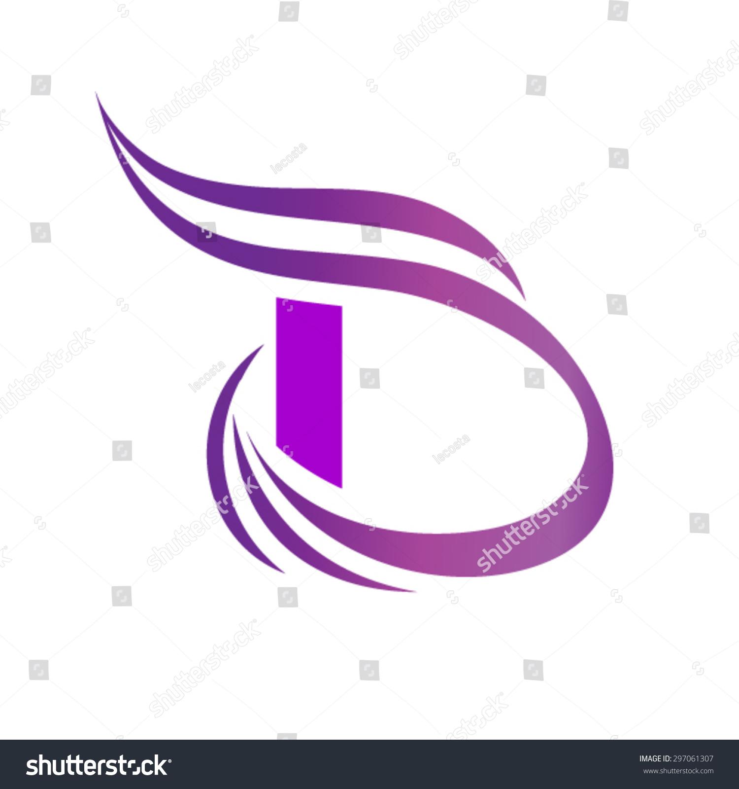 Dynamic Logo Letter D Logo Design Template Stock Vector