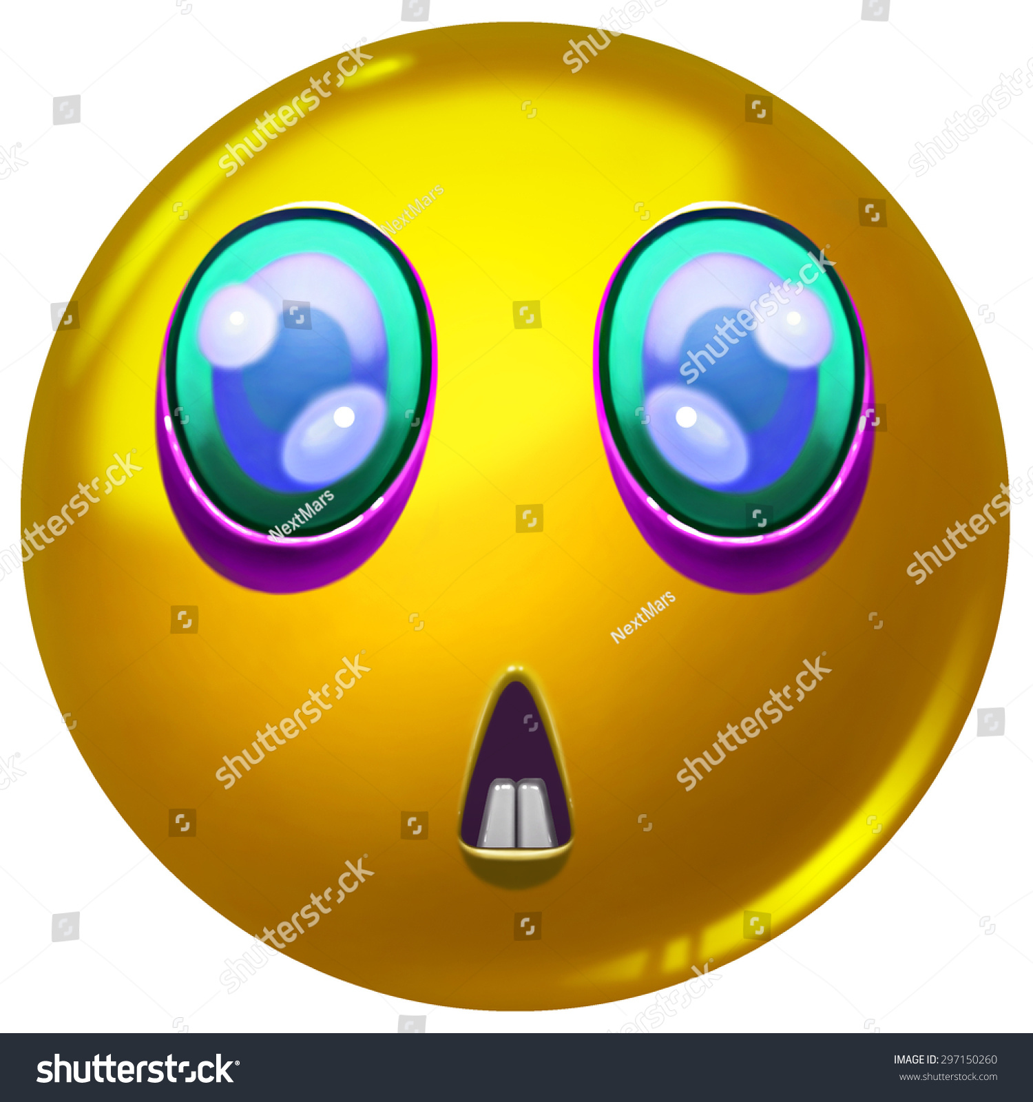 Illustration Funny Emoji Face Ball F Stock Illustration 297150260