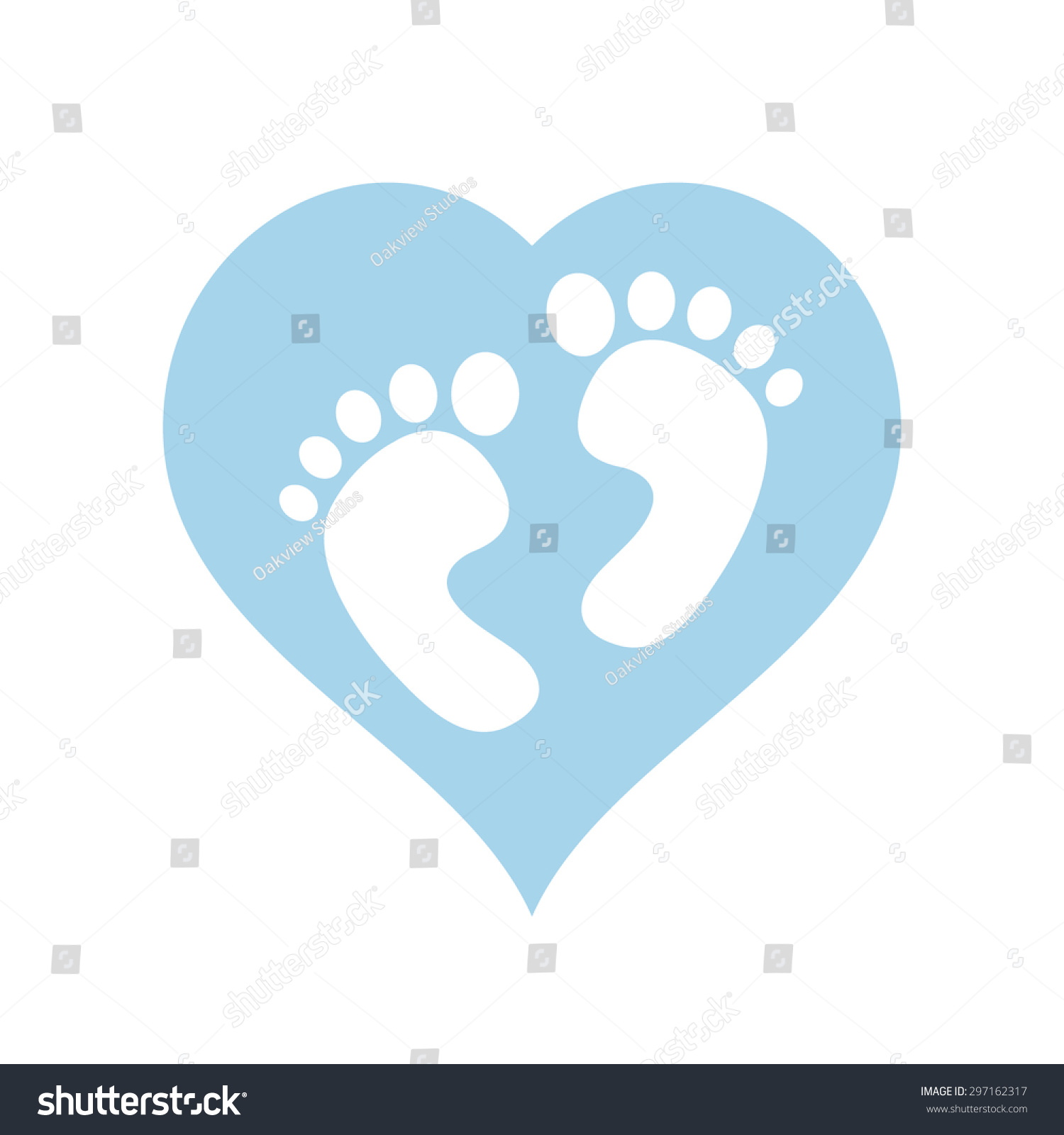 Boybaby feet within blue heart vector stock vector 297162317 its a boybaby feet within blue heart vector illustration biocorpaavc Images