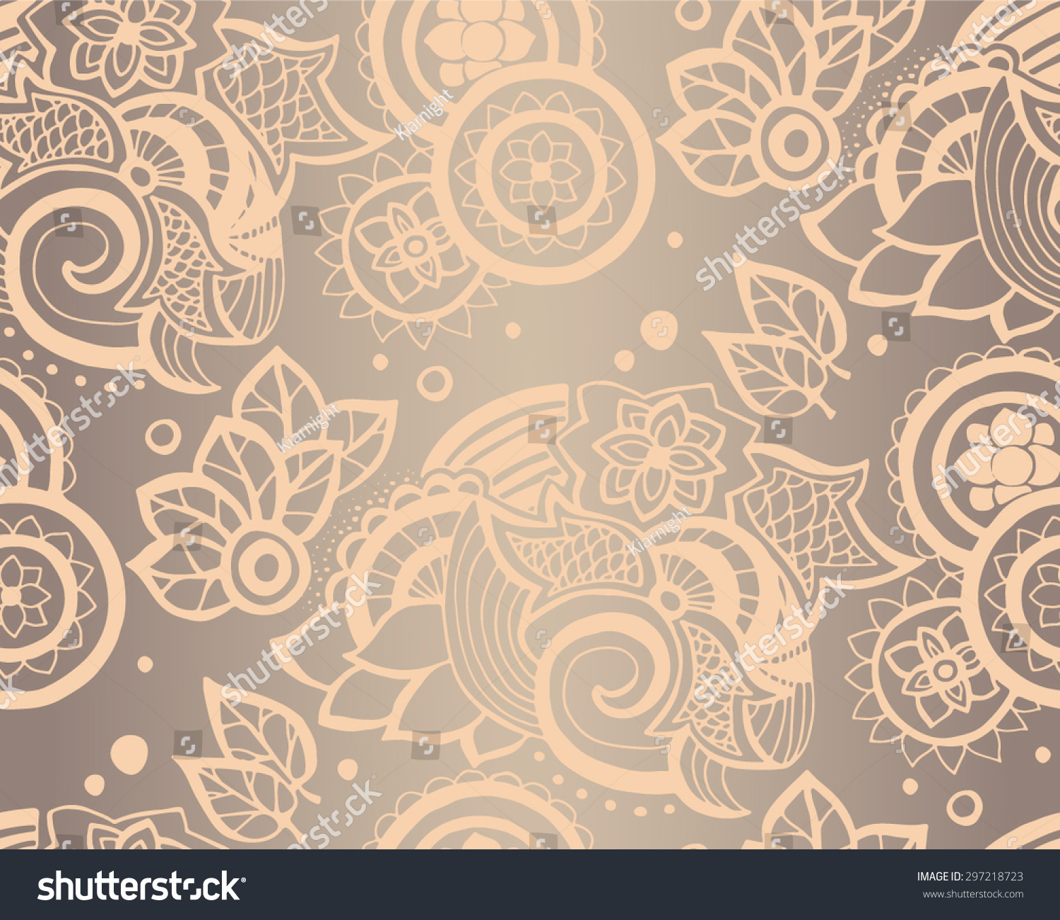 stock vector hand drawn abstract seamless pattern