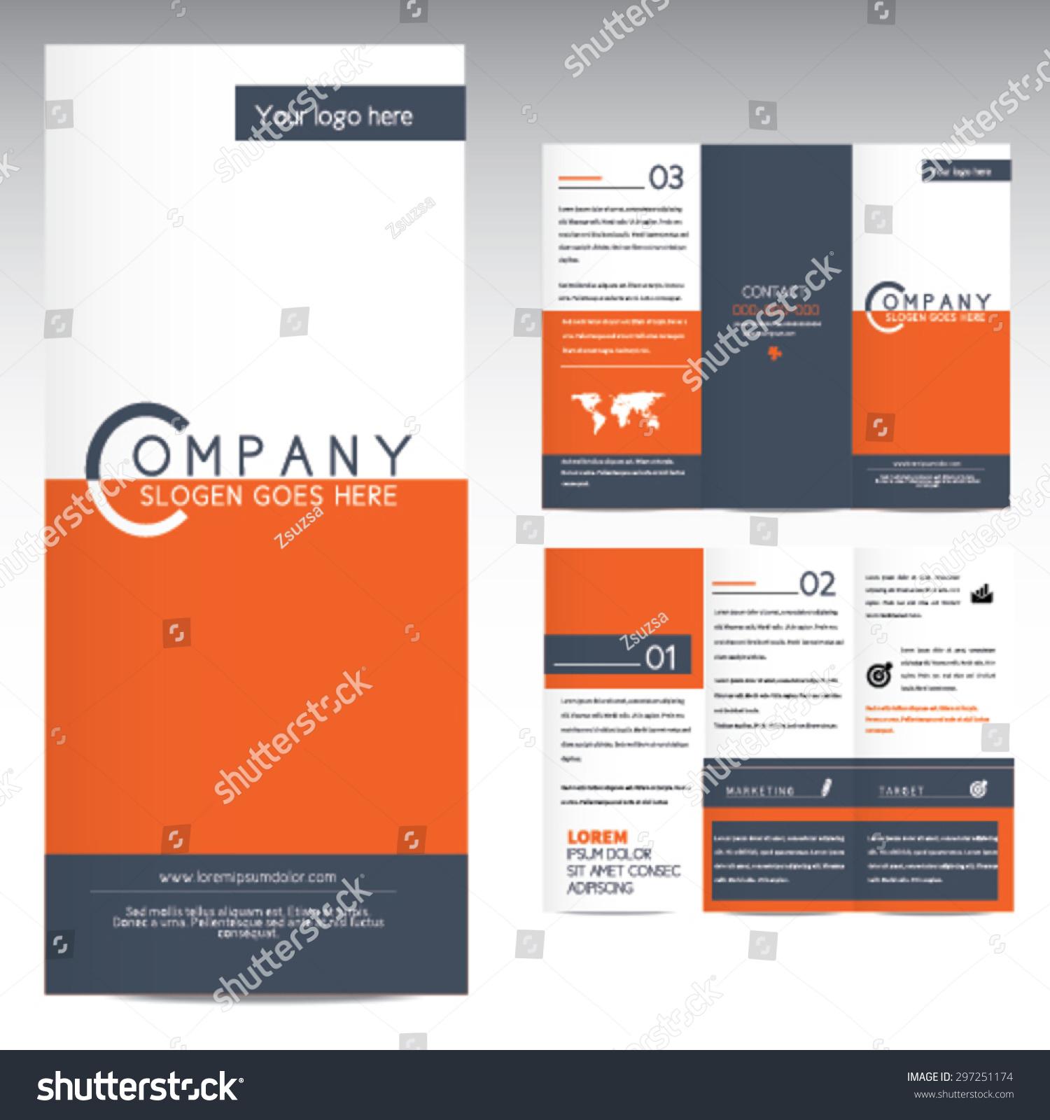 trifold brochure template のベクター画像素材 ロイヤリティフリー