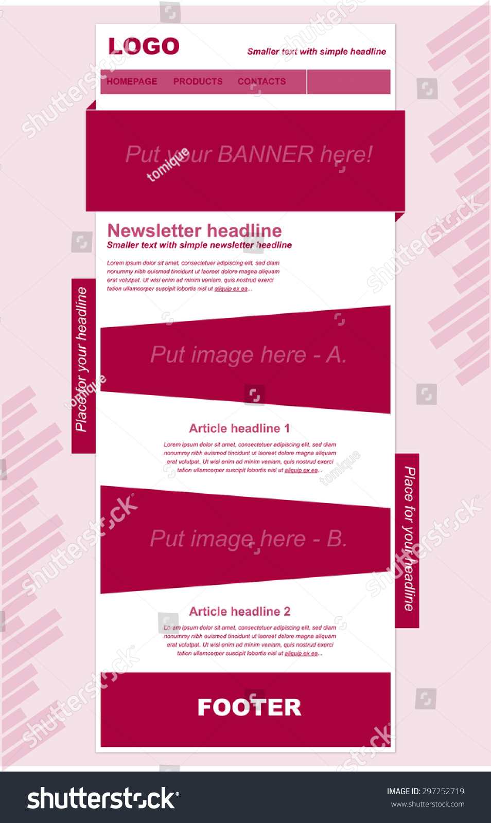 Responsive Newsletter Template Business Nonprofit Organization Stock - Simple newsletter template