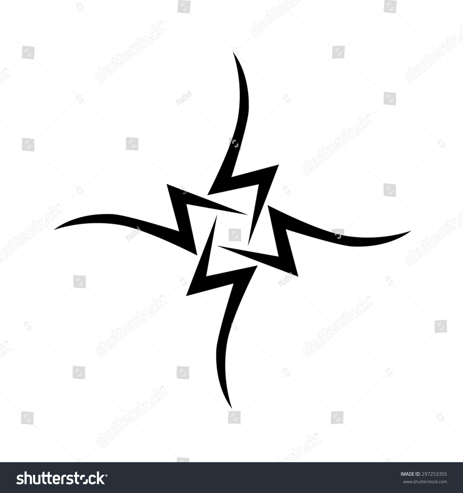 Small Tattoo Designs Men Stock Vector Royalty Free 297253355