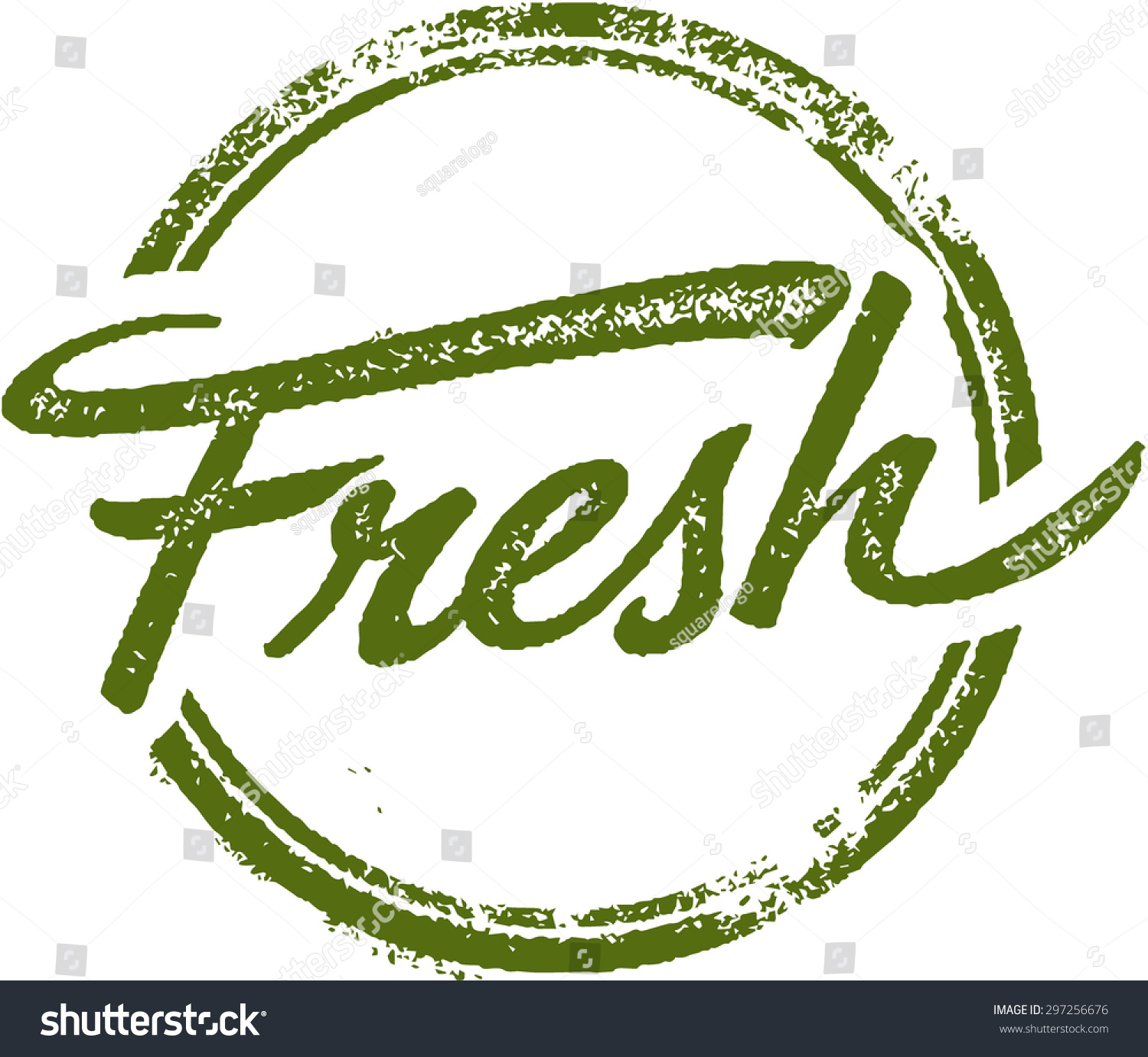 fresh rubber stamp stock vector royalty free 297256676 shutterstock