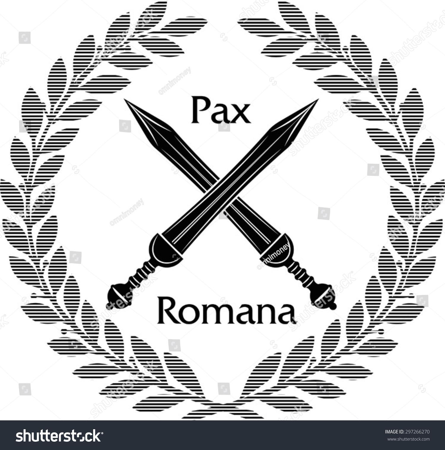 Roman Gladius Short Sword Stock Vector Royalty Free 297266270