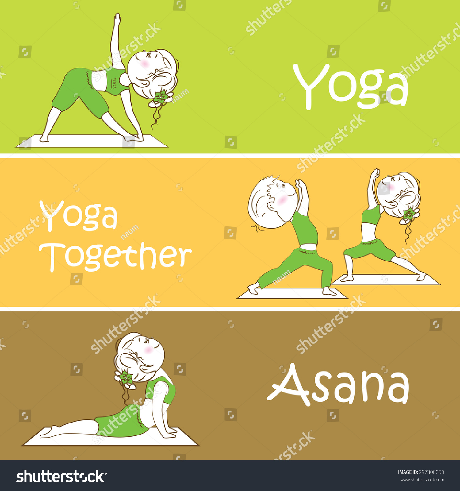 Yoga Banner Professional Banner Templates Banner Stock Illustration 297300050