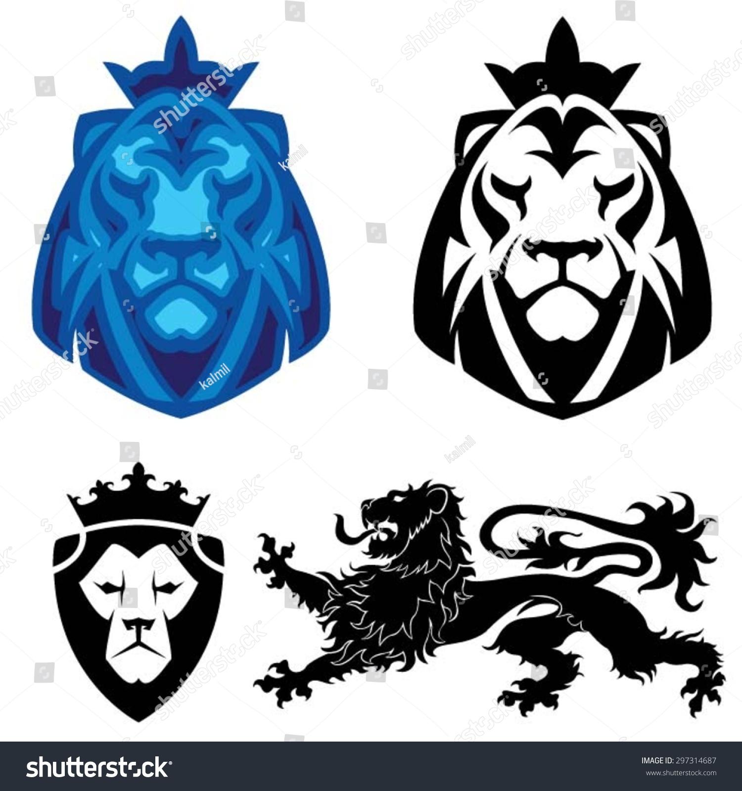 Heraldic Lion Head Logo