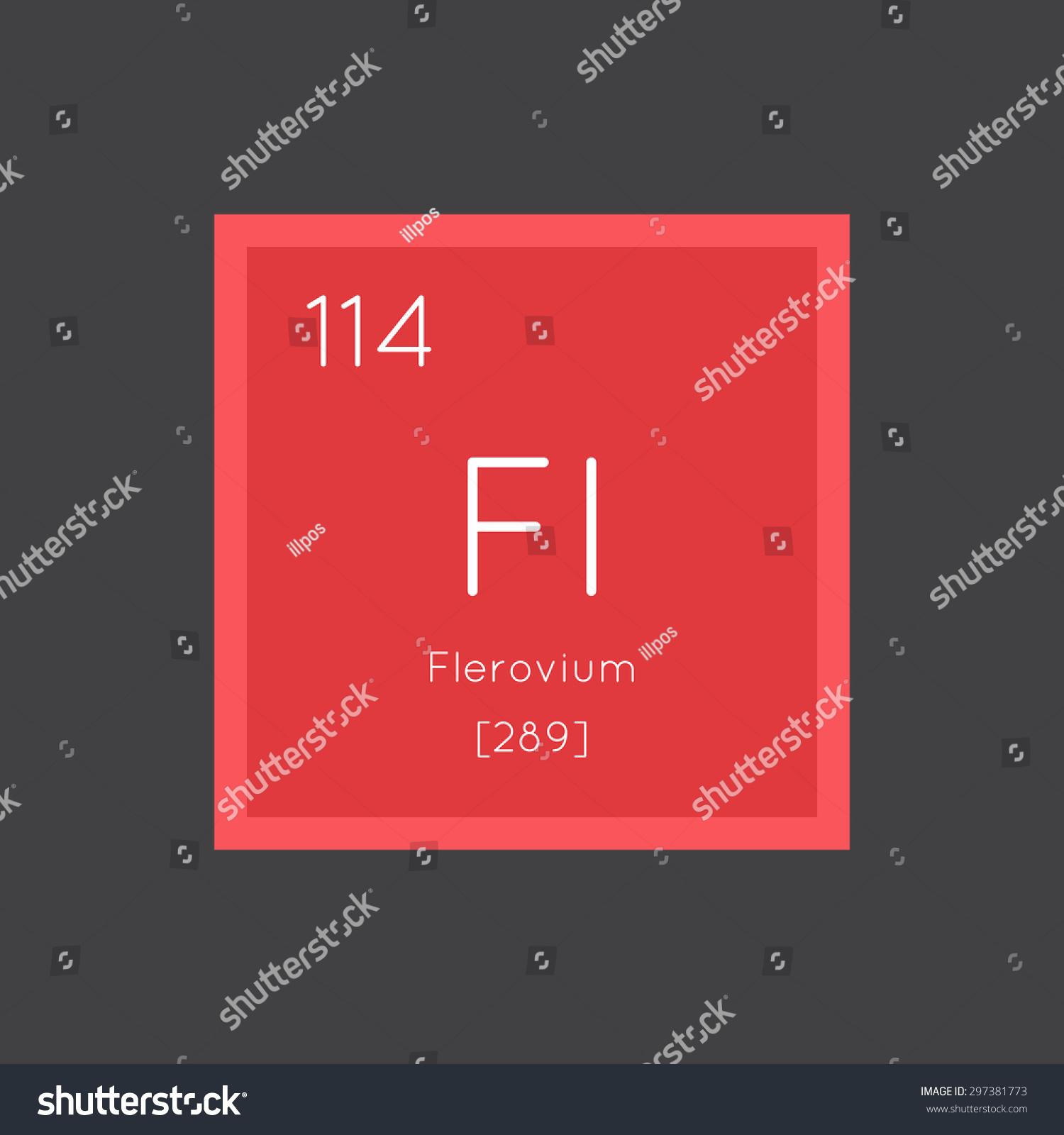 Flerovium element flerovium periodic table element symbol flerovium element flerovium simple style tile icon chemical element of periodic table vector illustration eps8 gamestrikefo Images