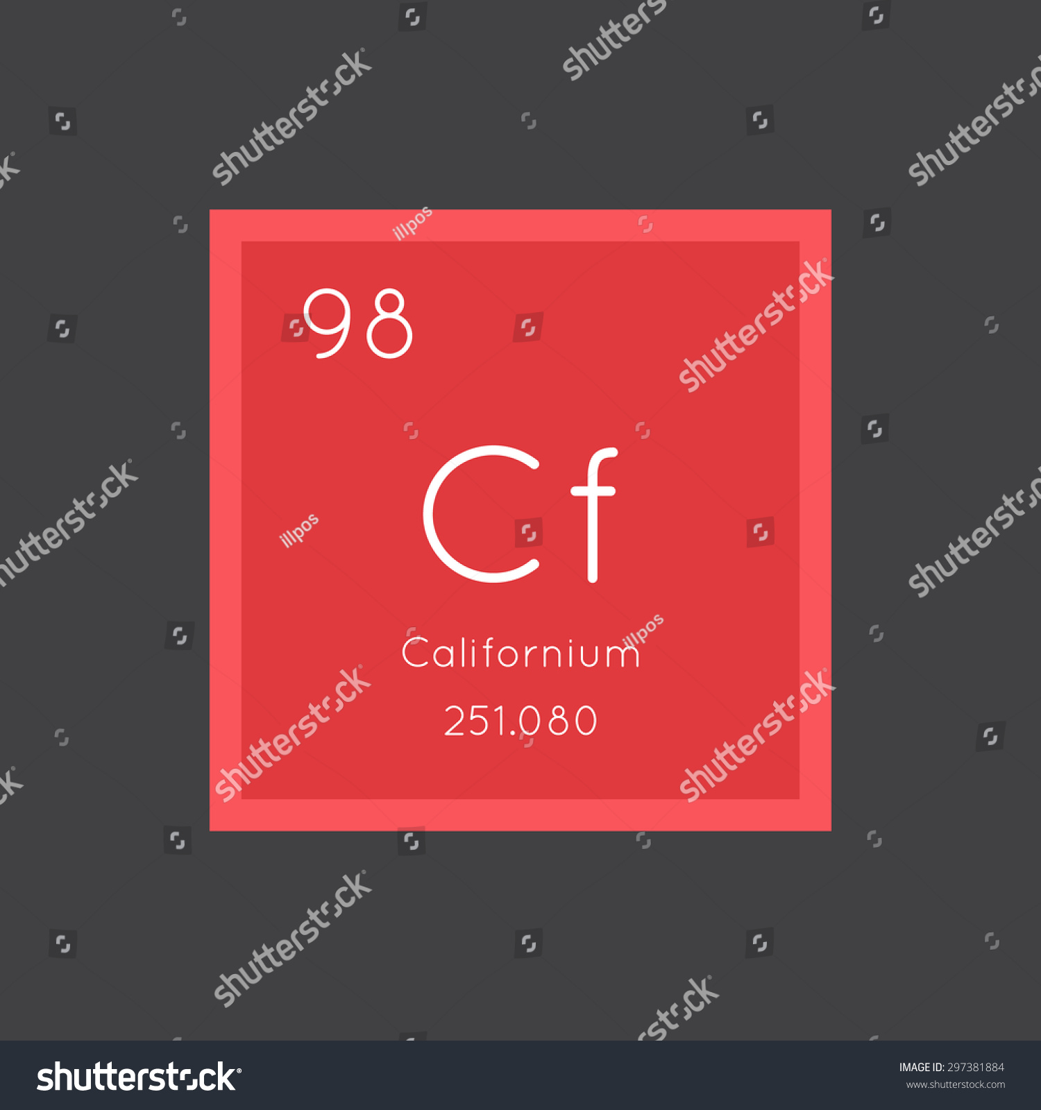 Californium simple style tile icon chemical stock vector 297381884 californium simple style tile icon chemical element of periodic table vector illustration eps8 gamestrikefo Images