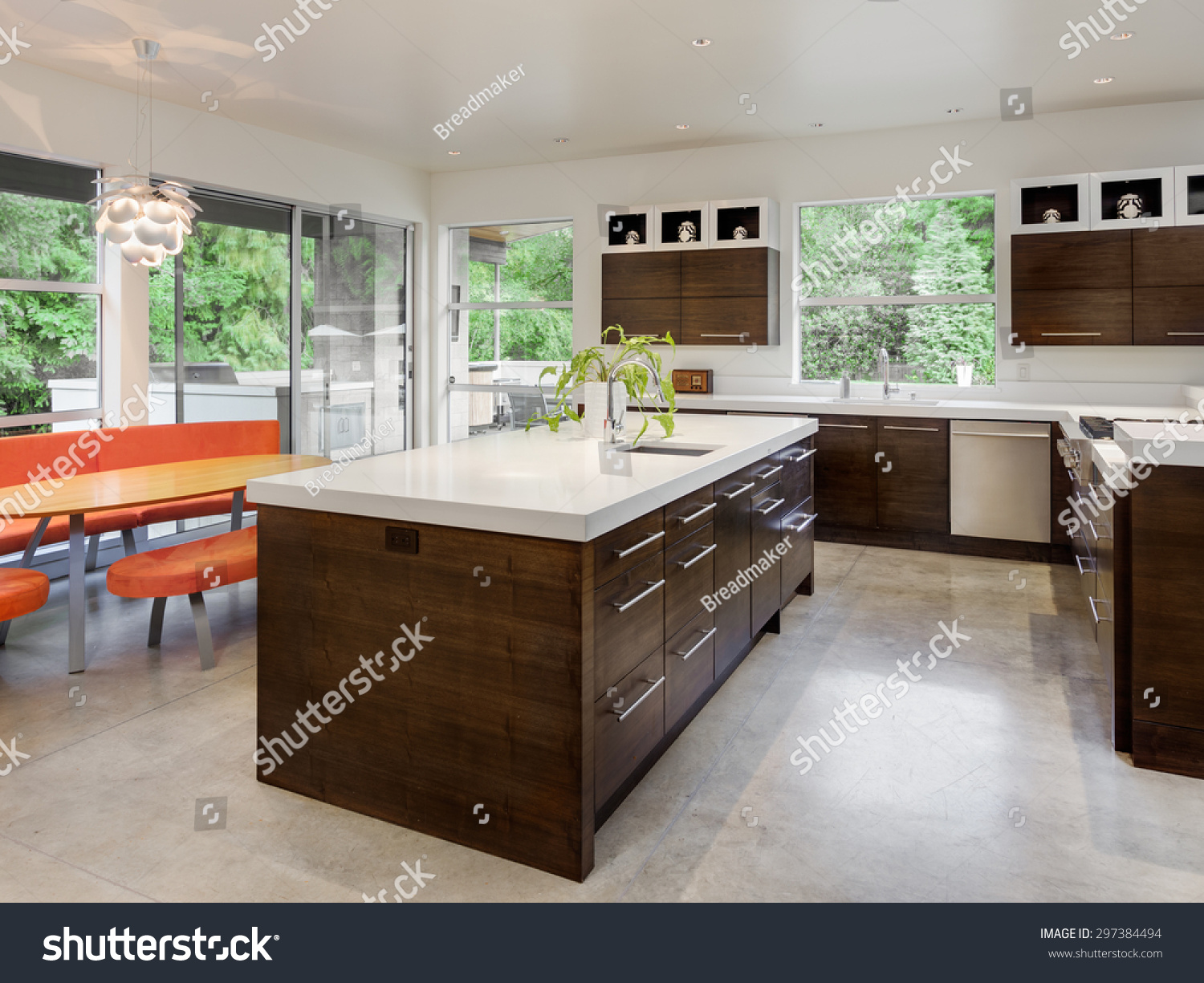Kitchen New Luxury Home Island Sink Stock Photo 297384494  Shutterstock