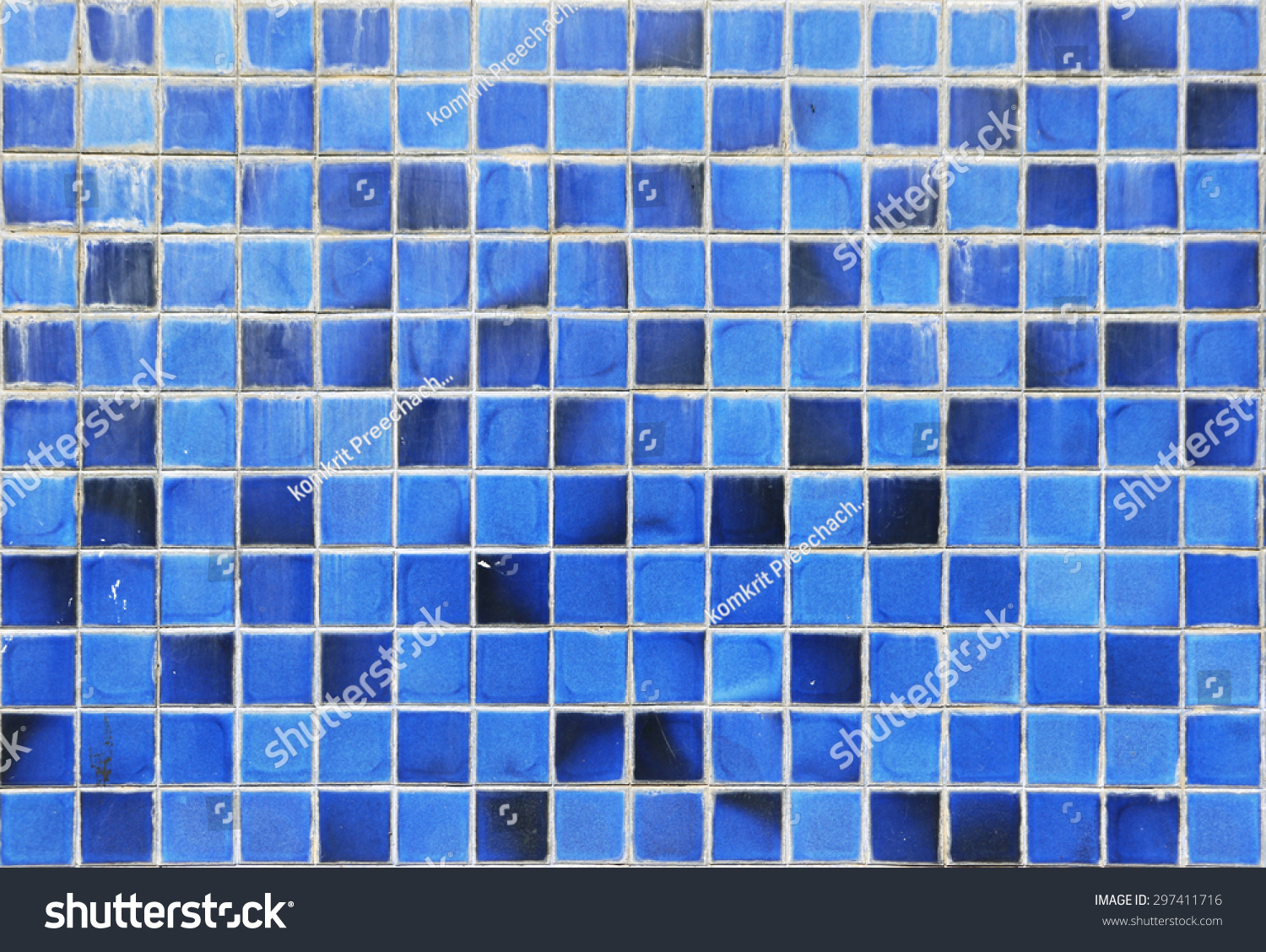 Old Blue Ceramic Wall Tiles Background Stock Photo (Edit Now ...