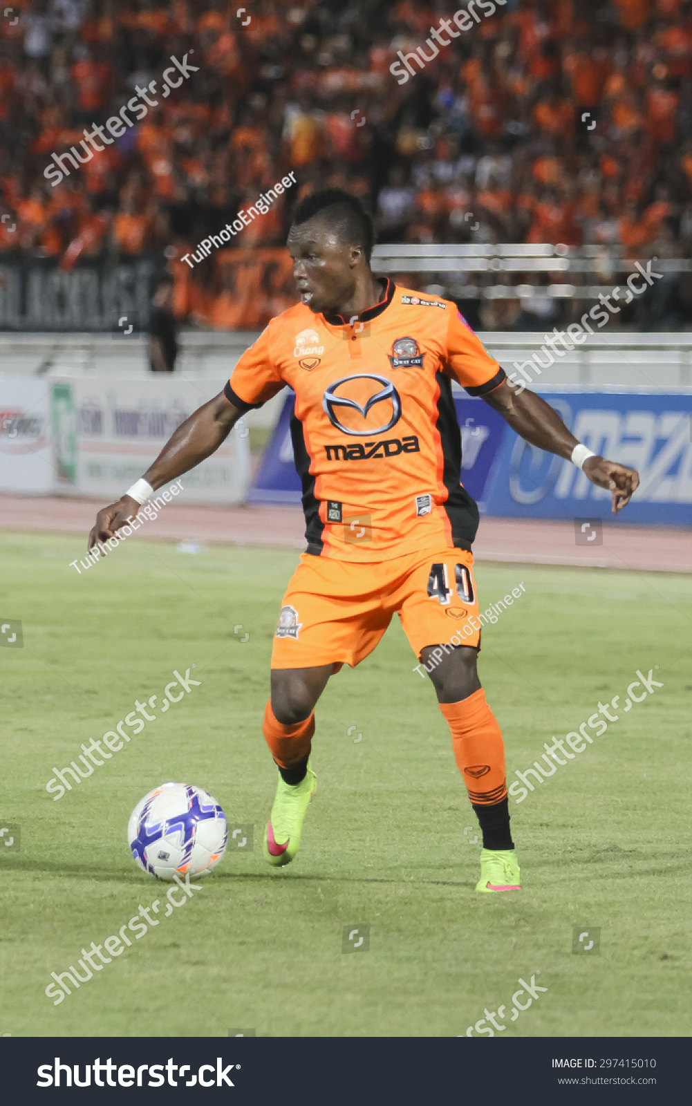 Nakhonratchasima Thailand  city photos : NAKHONRATCHASIMA THAILAND JULY11:Dominic Adiyiah of Nakhon ...