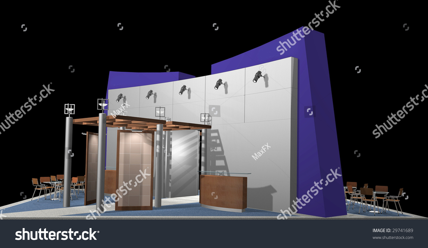 Photography Expo Stands : D render of exhibition stands stock photo