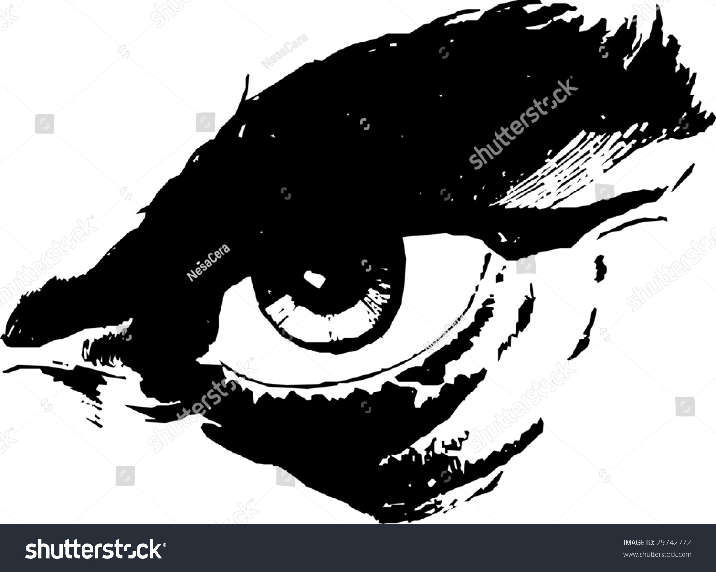 mans eye vector 01 stock vector 29742772 shutterstock
