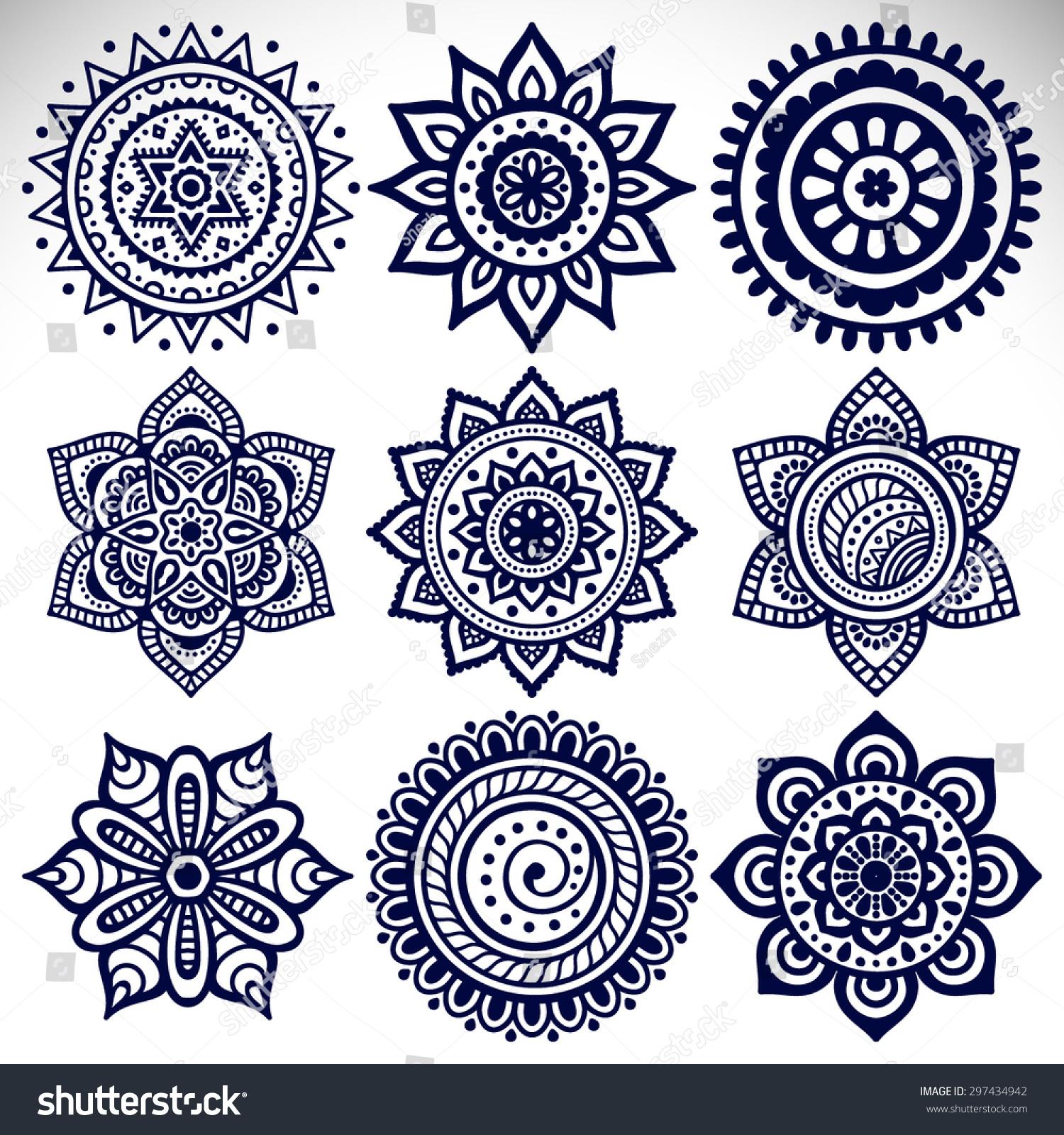 Mandala Vector Mandala Floral Mandala Flower Stock-Vektorgrafik ...