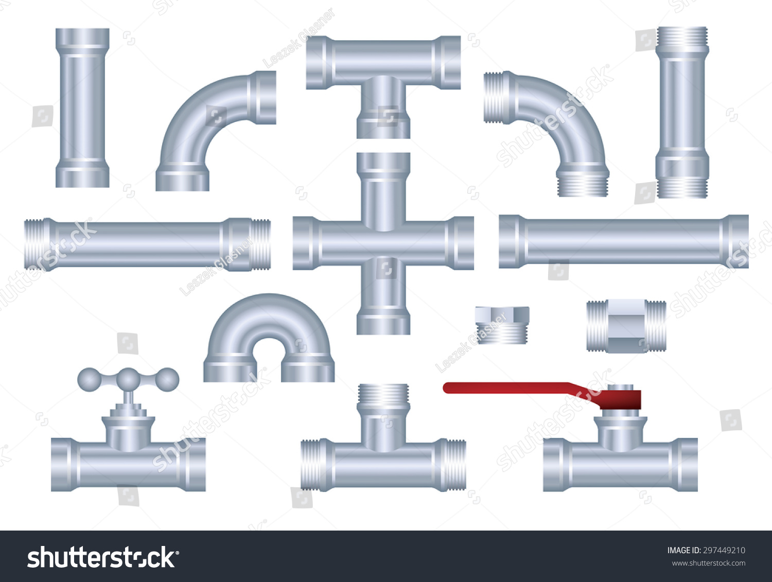 Uncategorized Plumbing Pieces vector pvc pipeline construction pieces set stock 297449210 set